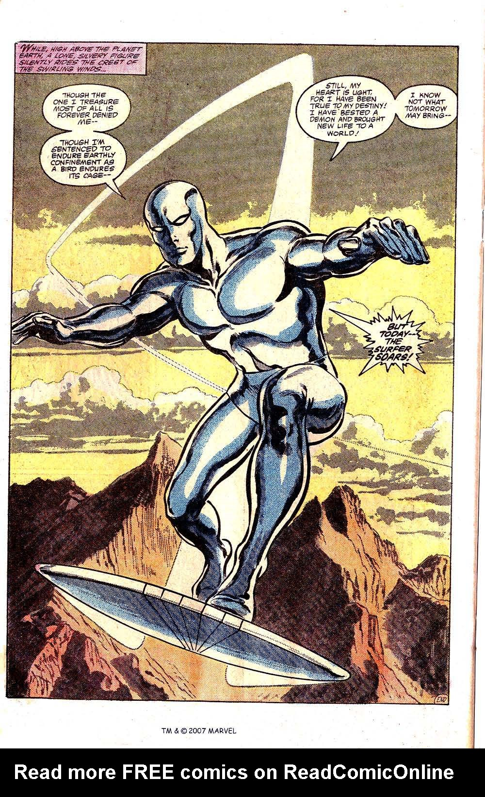 Read online Silver Surfer (1982) comic -  Issue # Full - 50
