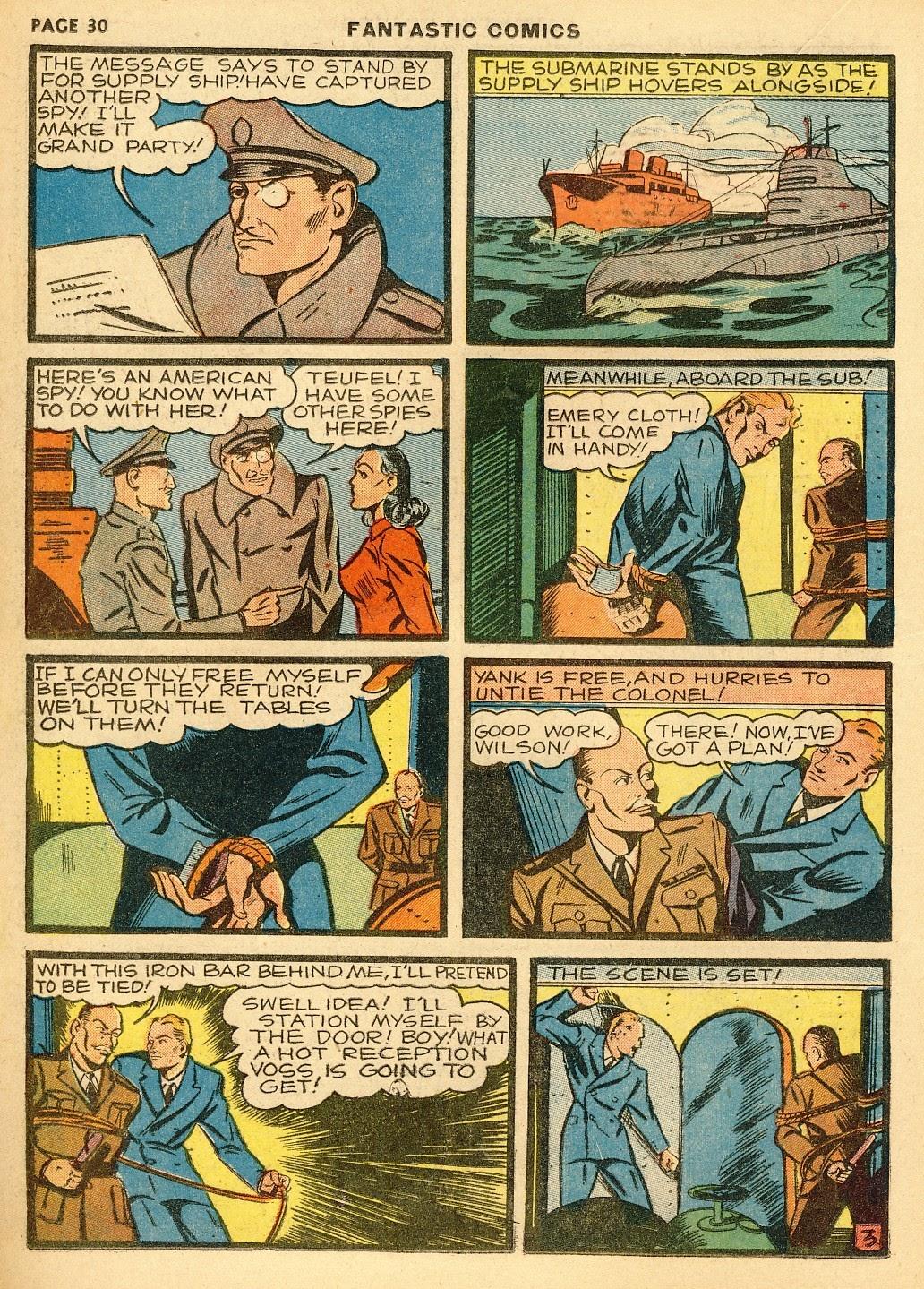 Read online Fantastic Comics comic -  Issue #10 - 31