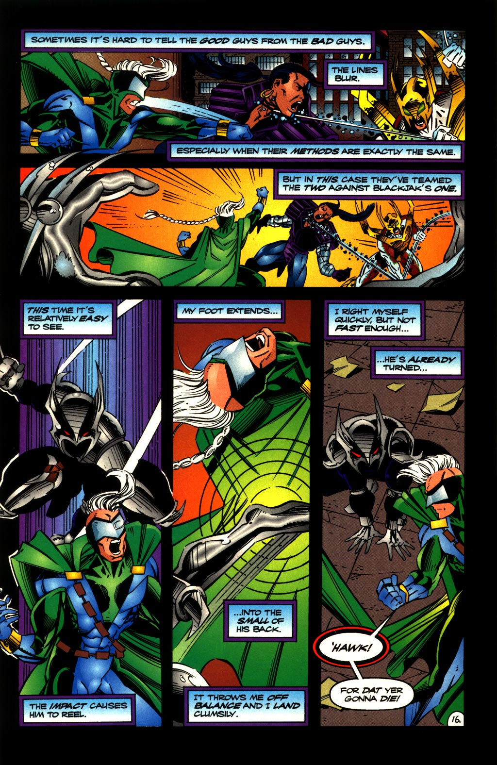 Read online ShadowHawk comic -  Issue #10 - 18