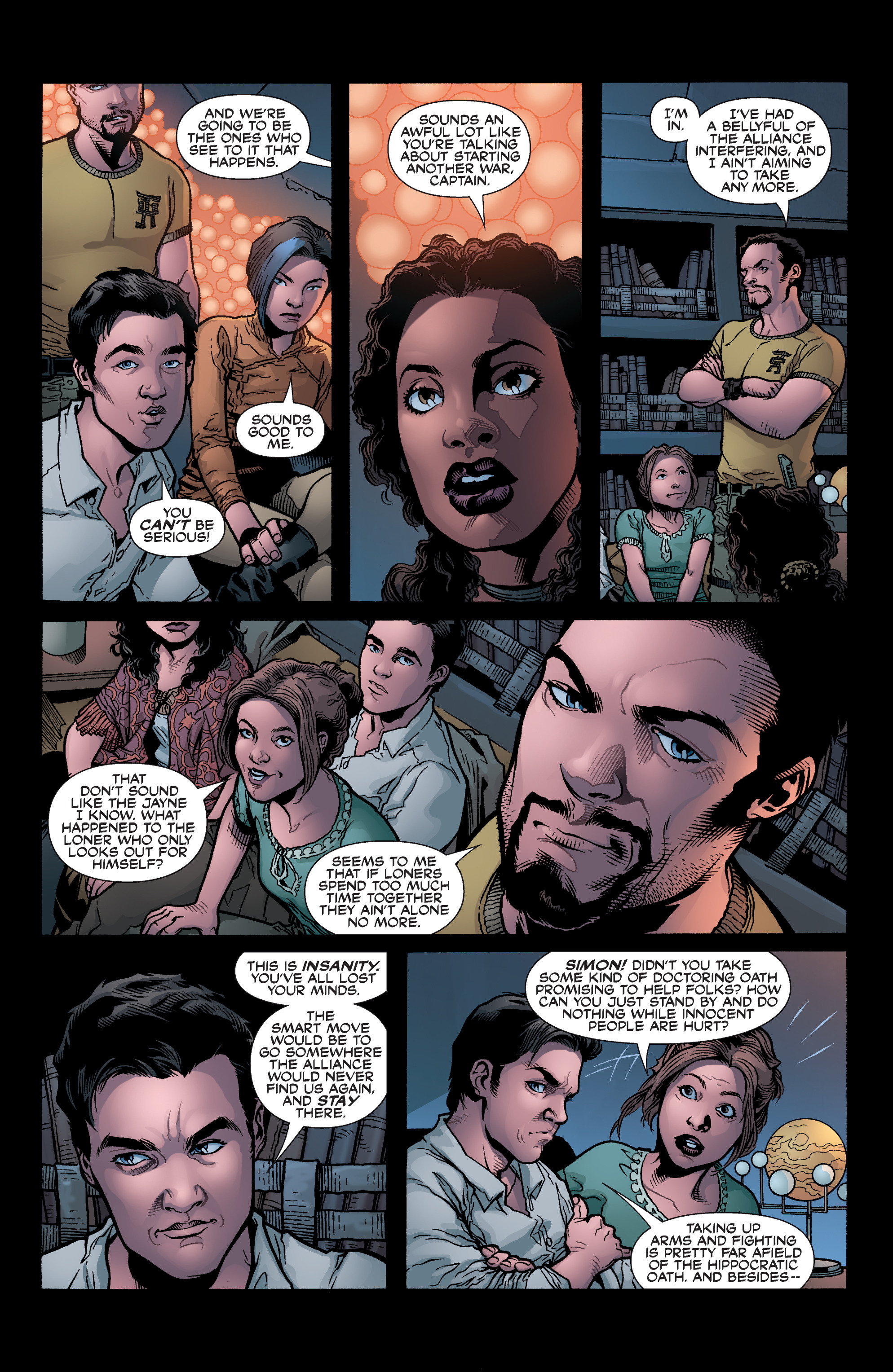 Read online Serenity: Firefly Class 03-K64 – No Power in the 'Verse comic -  Issue #6 - 24