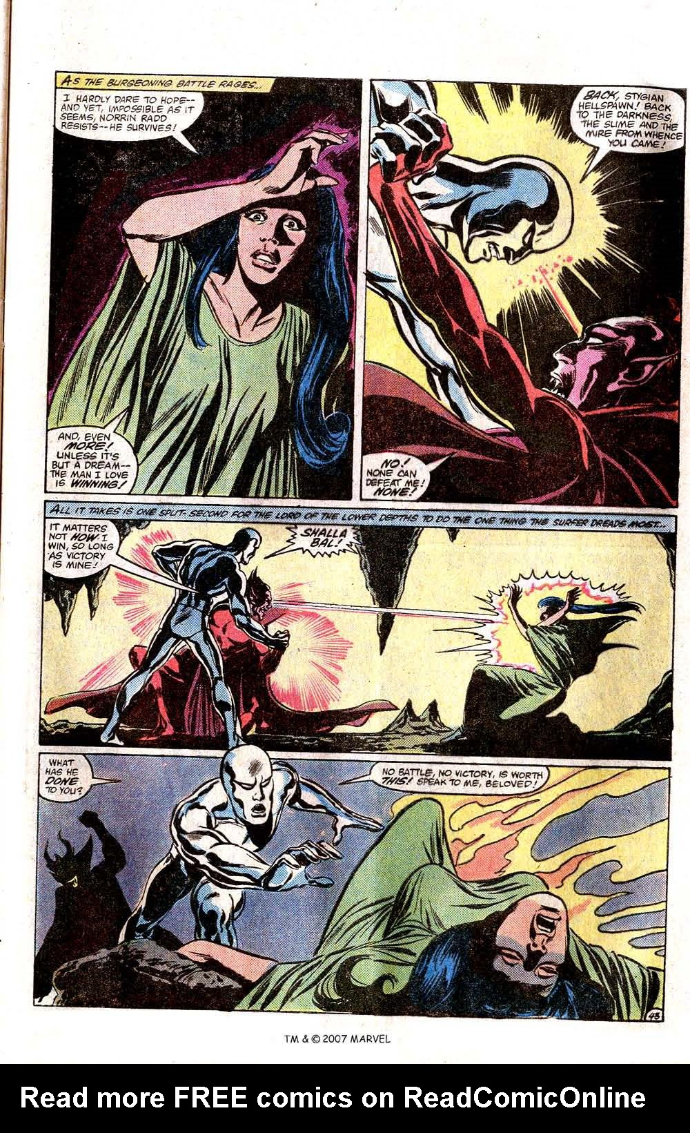 Read online Silver Surfer (1982) comic -  Issue # Full - 45