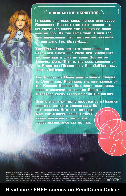 Read online Sigil (2000) comic -  Issue #38 - 2