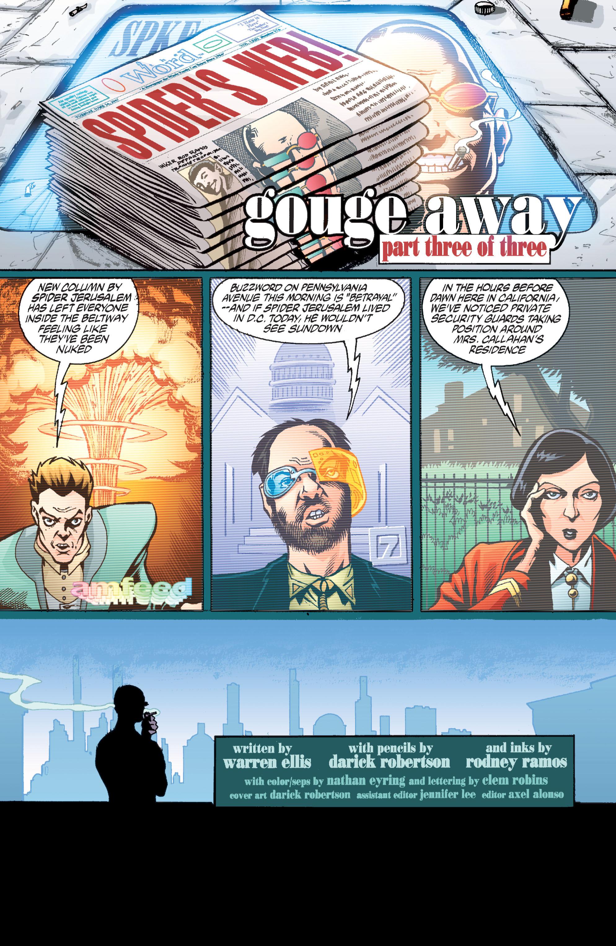 Read online Transmetropolitan comic -  Issue #36 - 2
