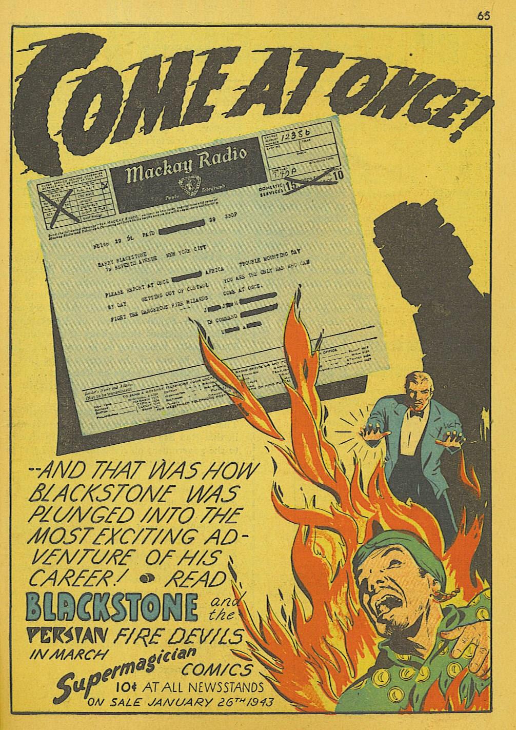 Read online Super-Magician Comics comic -  Issue #10 - 65