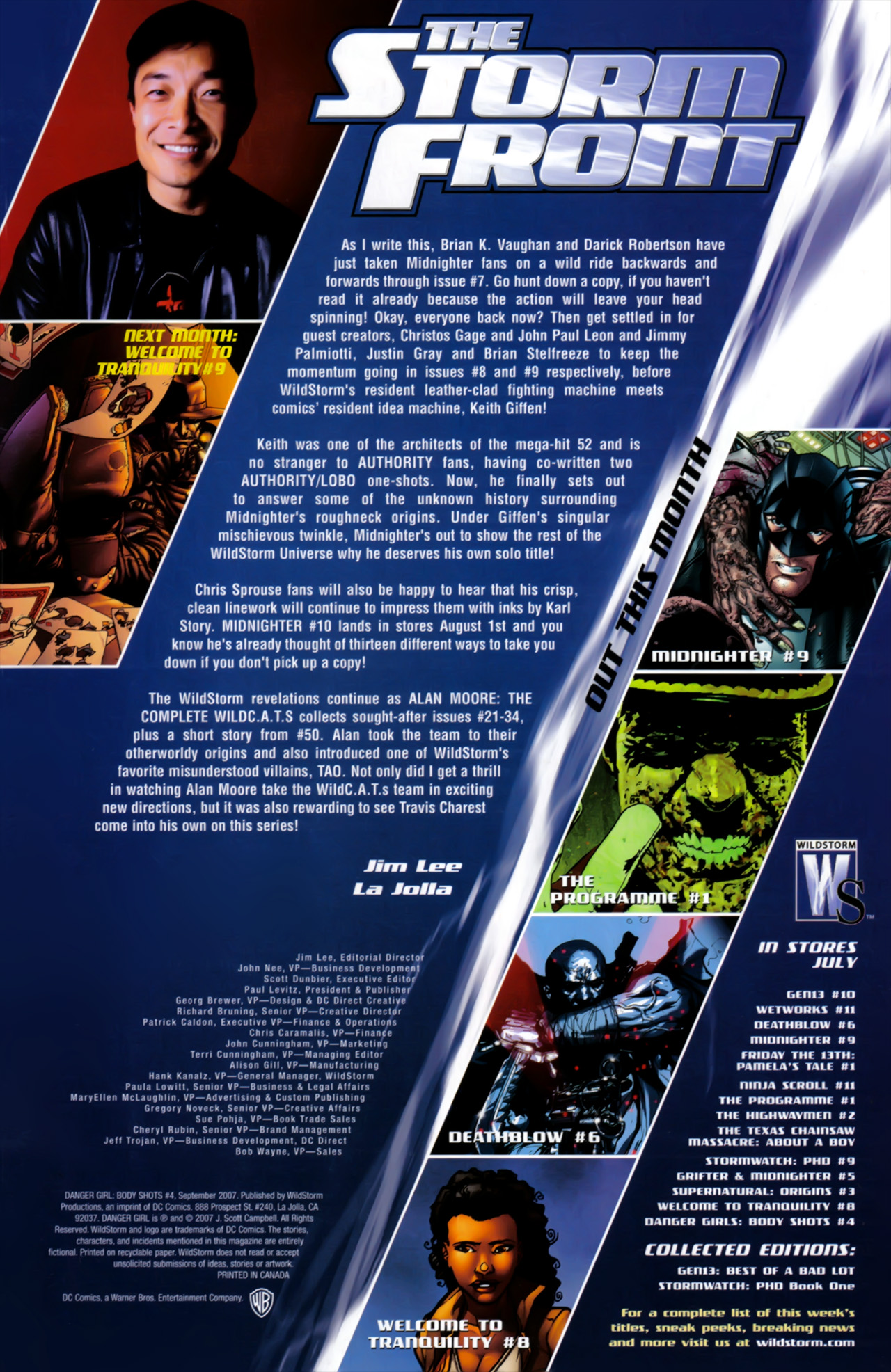 Danger Girl Body Shots #4 September 2007  DC Wildstorm Comics