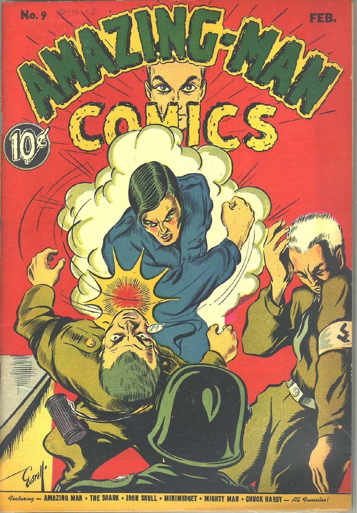 Read online Amazing Man Comics comic -  Issue #9 - 1