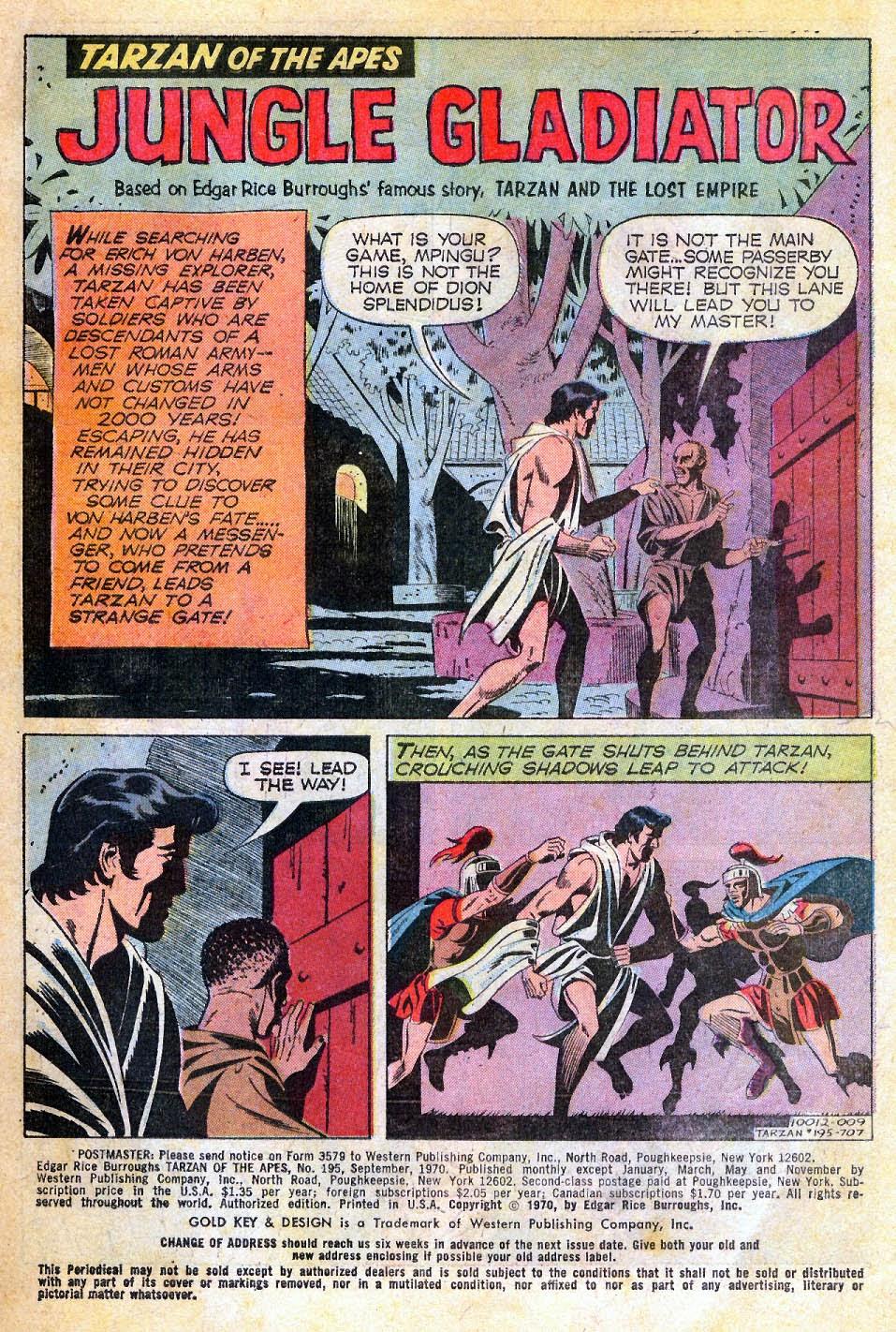 Tarzan (1962) issue 195 - Page 3