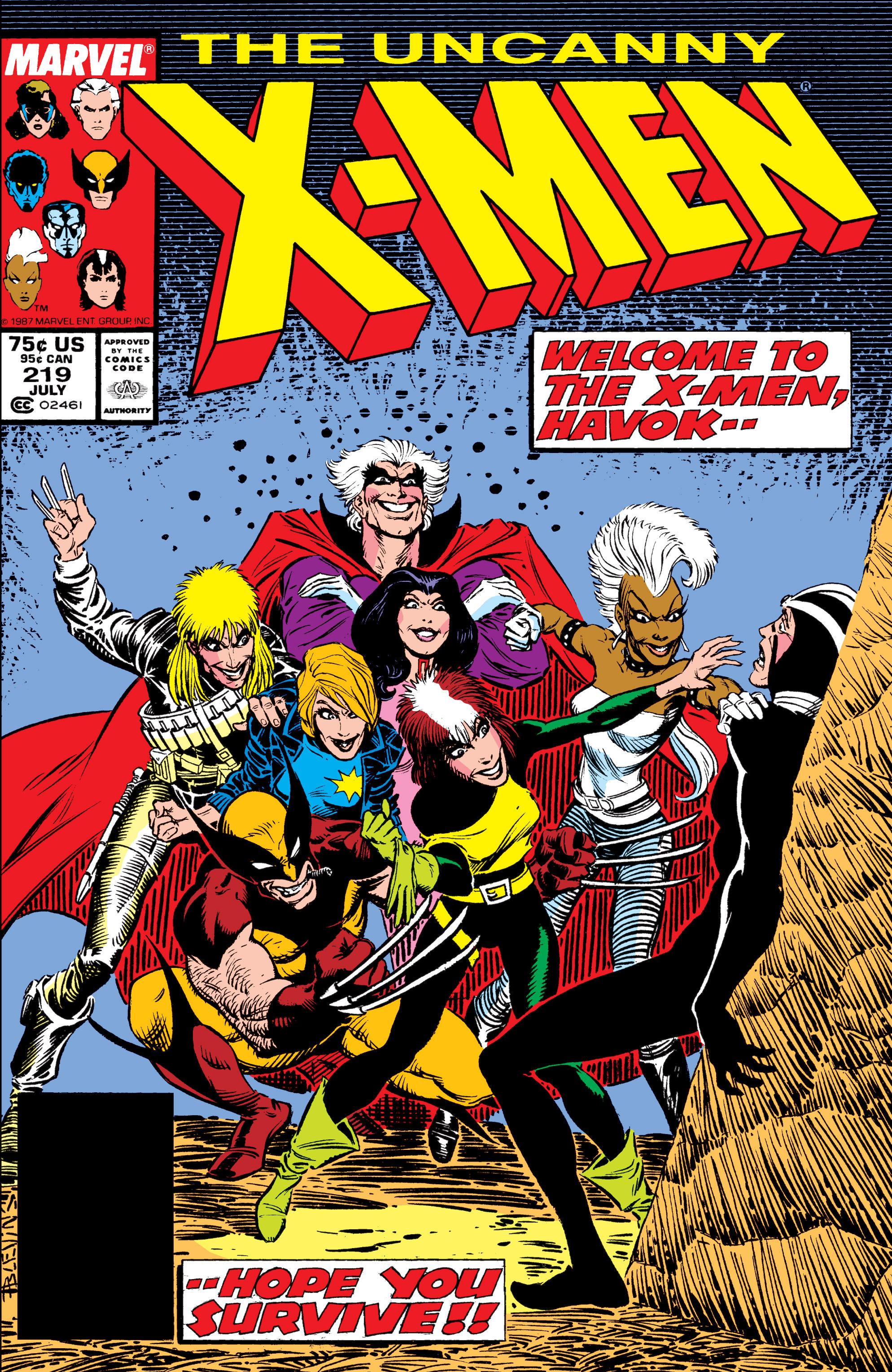 Uncanny X-Men (1963) 219 Page 1