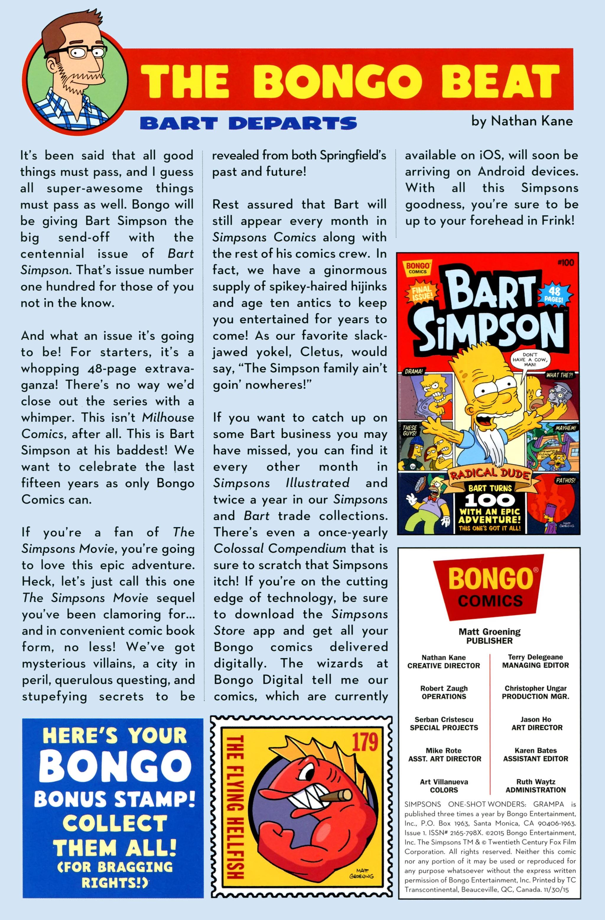 Read online Simpsons One-Shot Wonders: Grampa comic -  Issue # Full - 27