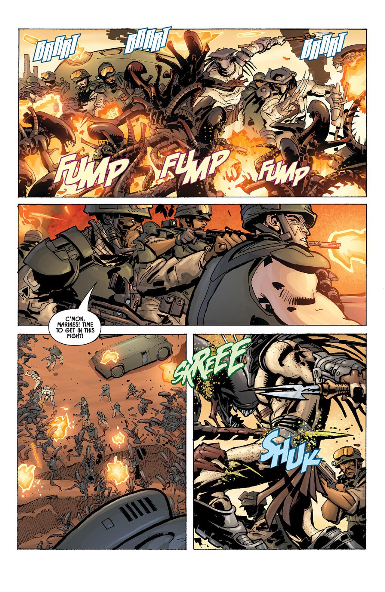 Read online Aliens vs. Predator: Three World War comic -  Issue #4 - 10
