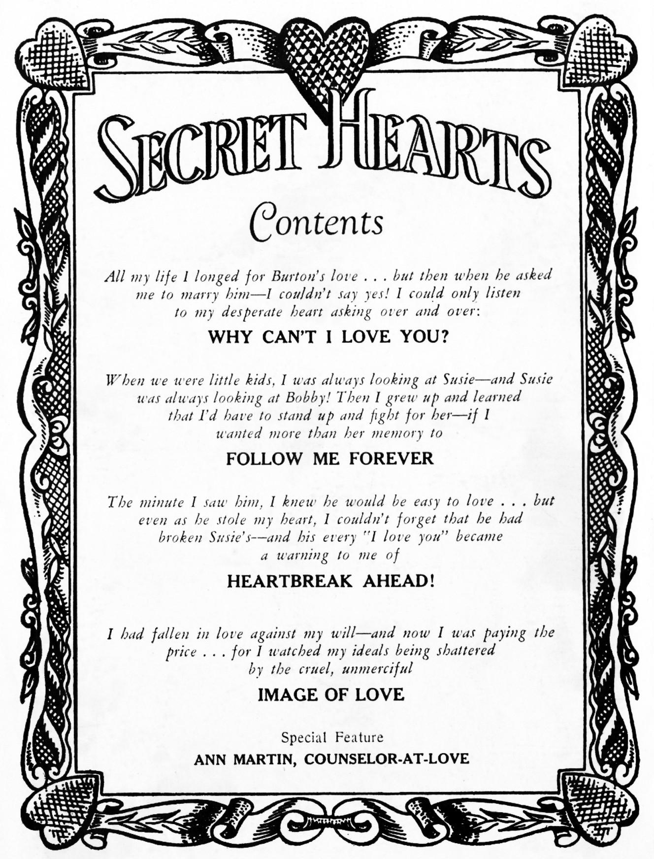 Read online Secret Hearts comic -  Issue #48 - 2