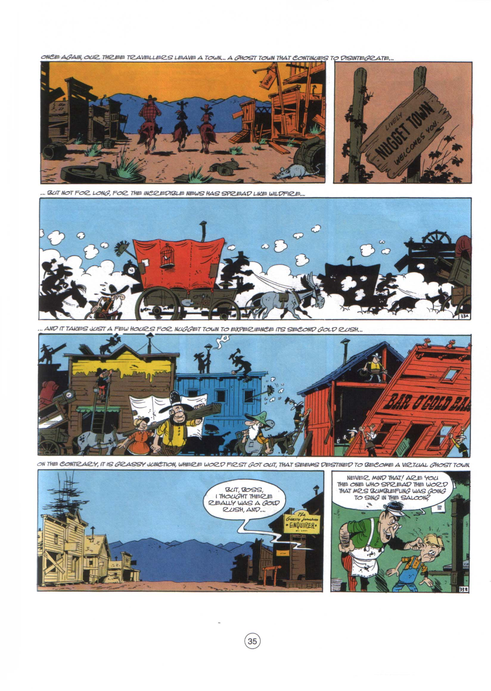 Read online A Lucky Luke Adventure comic -  Issue #29 - 34
