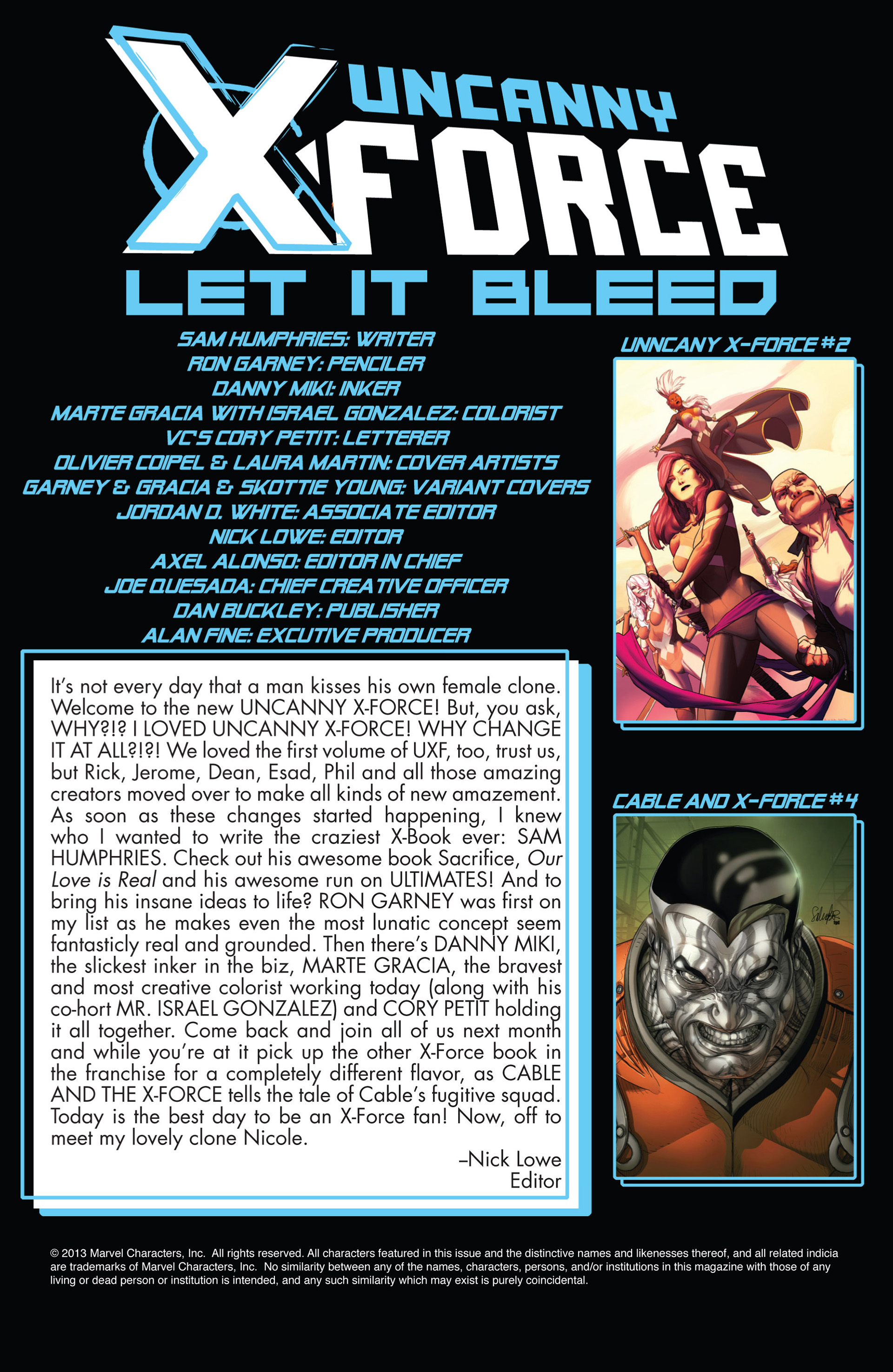 Read online Uncanny X-Force (2013) comic -  Issue #1 - 20