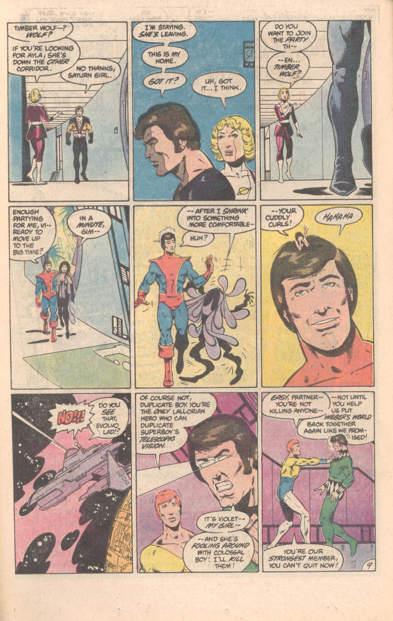 Legion of Super-Heroes (1980) 296 Page 9