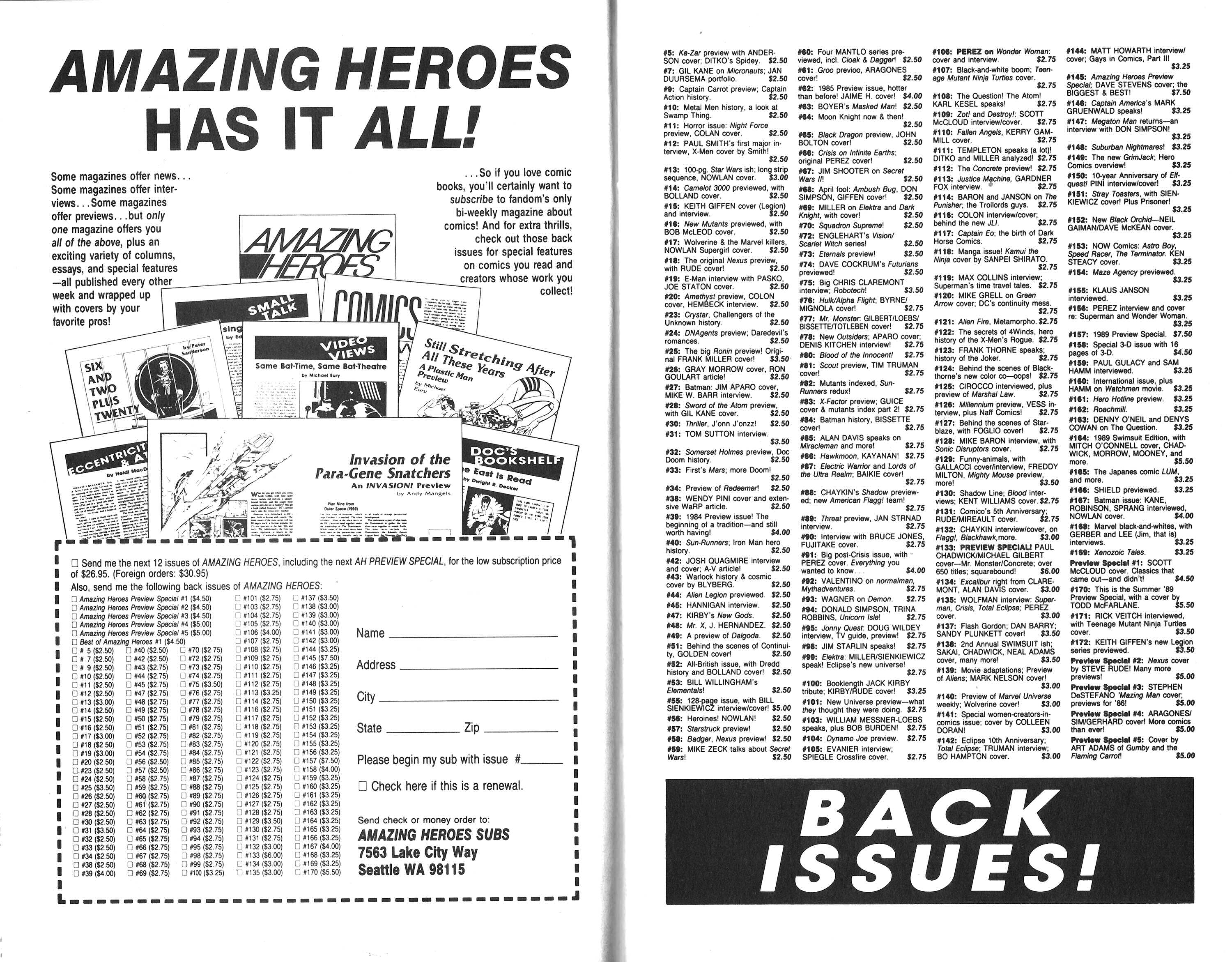 Read online Amazing Heroes comic -  Issue #171 - 18