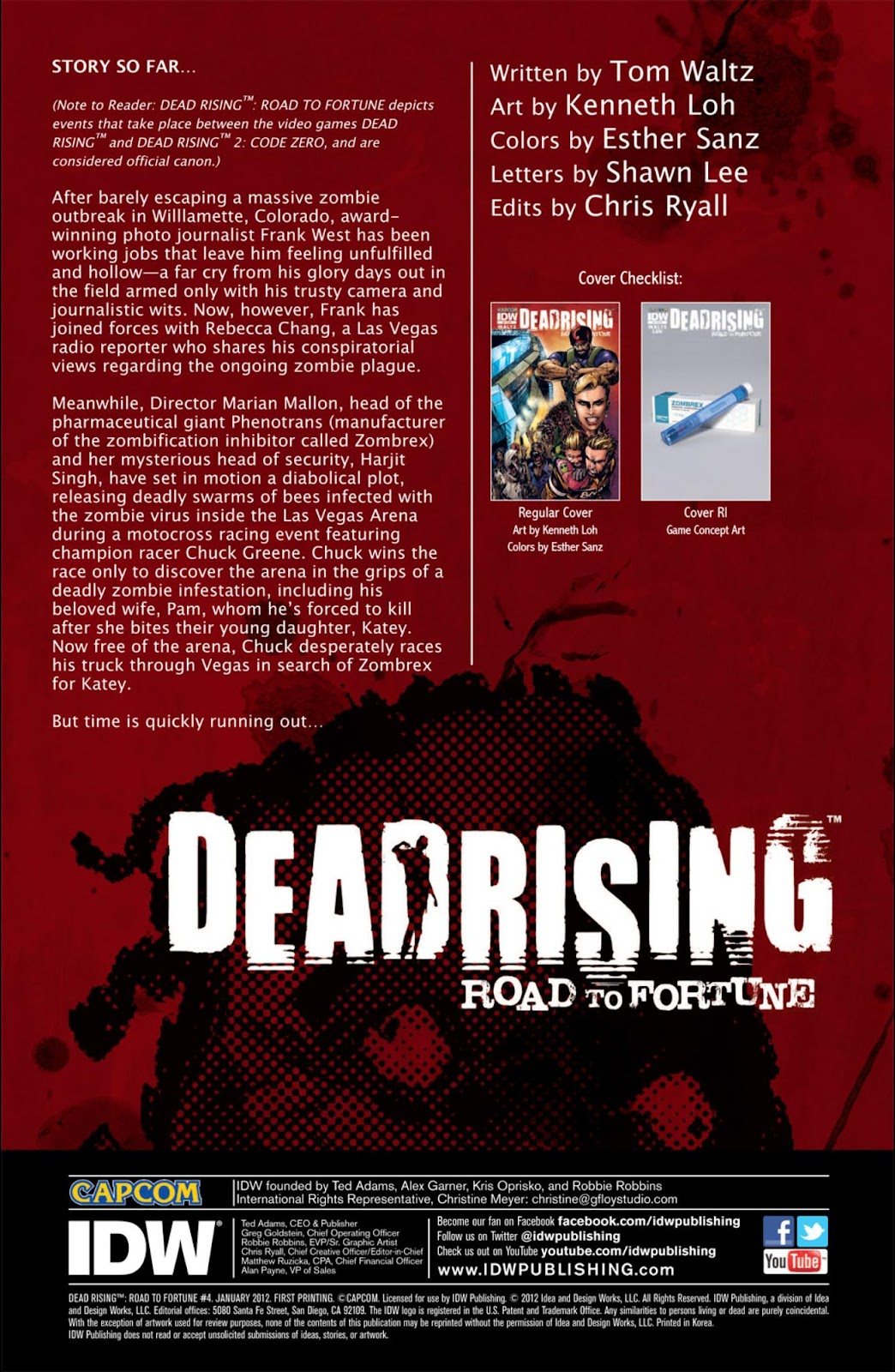 Read online Dead Rising: Road to Fortune comic -  Issue #4 - 3