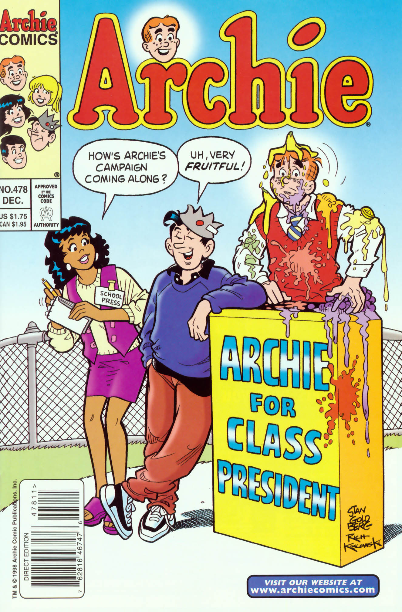 Read online Archie (1960) comic -  Issue #478 - 1