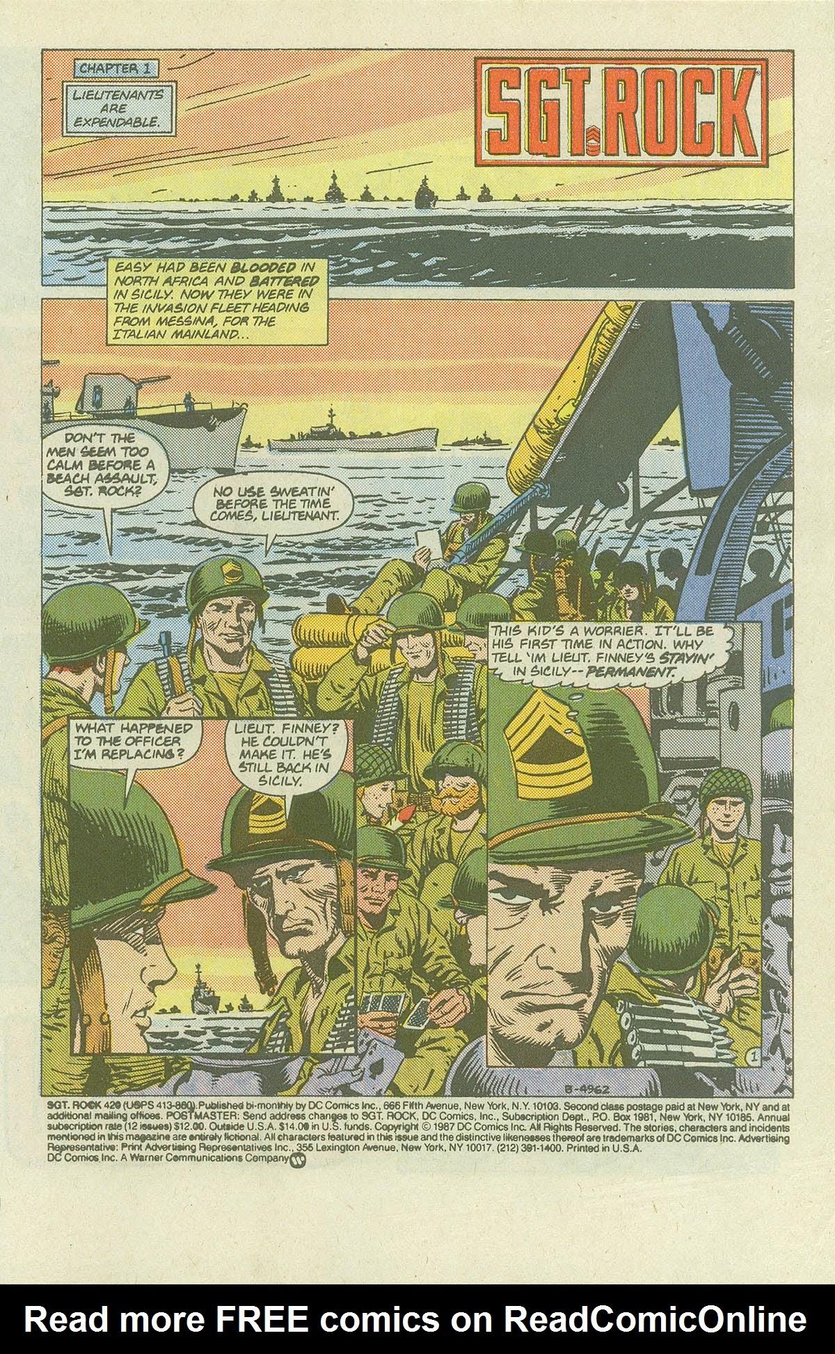 Read online Sgt. Rock comic -  Issue #420 - 3