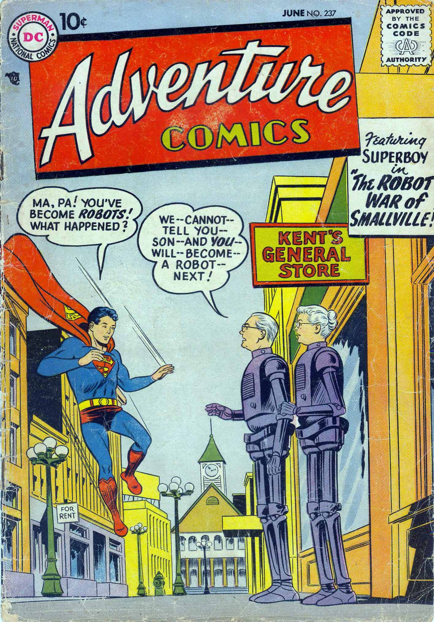 Read online Adventure Comics (1938) comic -  Issue #237 - 1