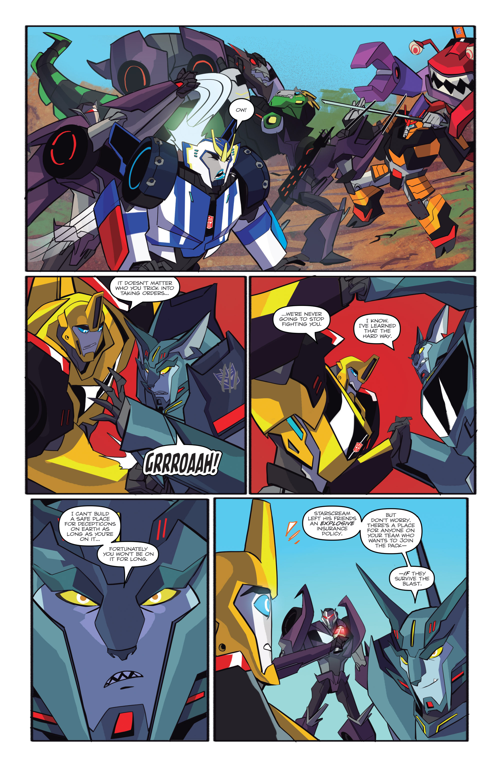 Read online Transformers: Robots In Disguise (2015) comic -  Issue #6 - 17