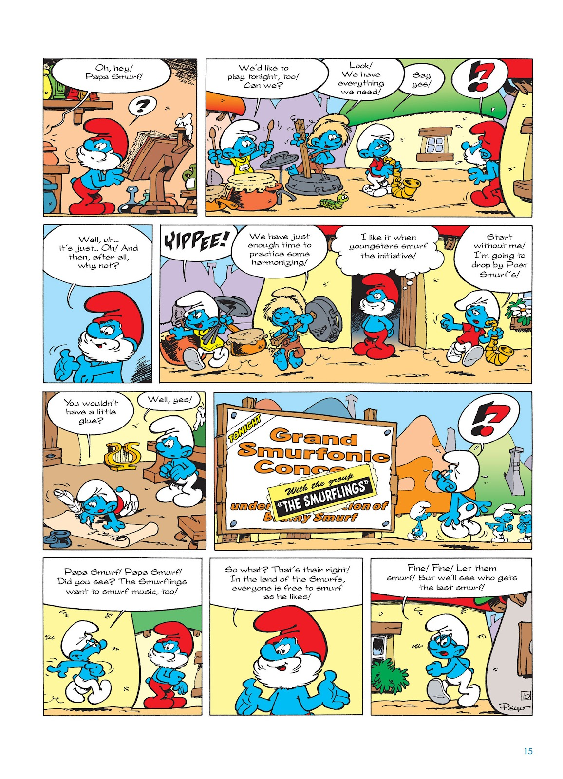 Read online The Smurfs comic -  Issue #15 - 16