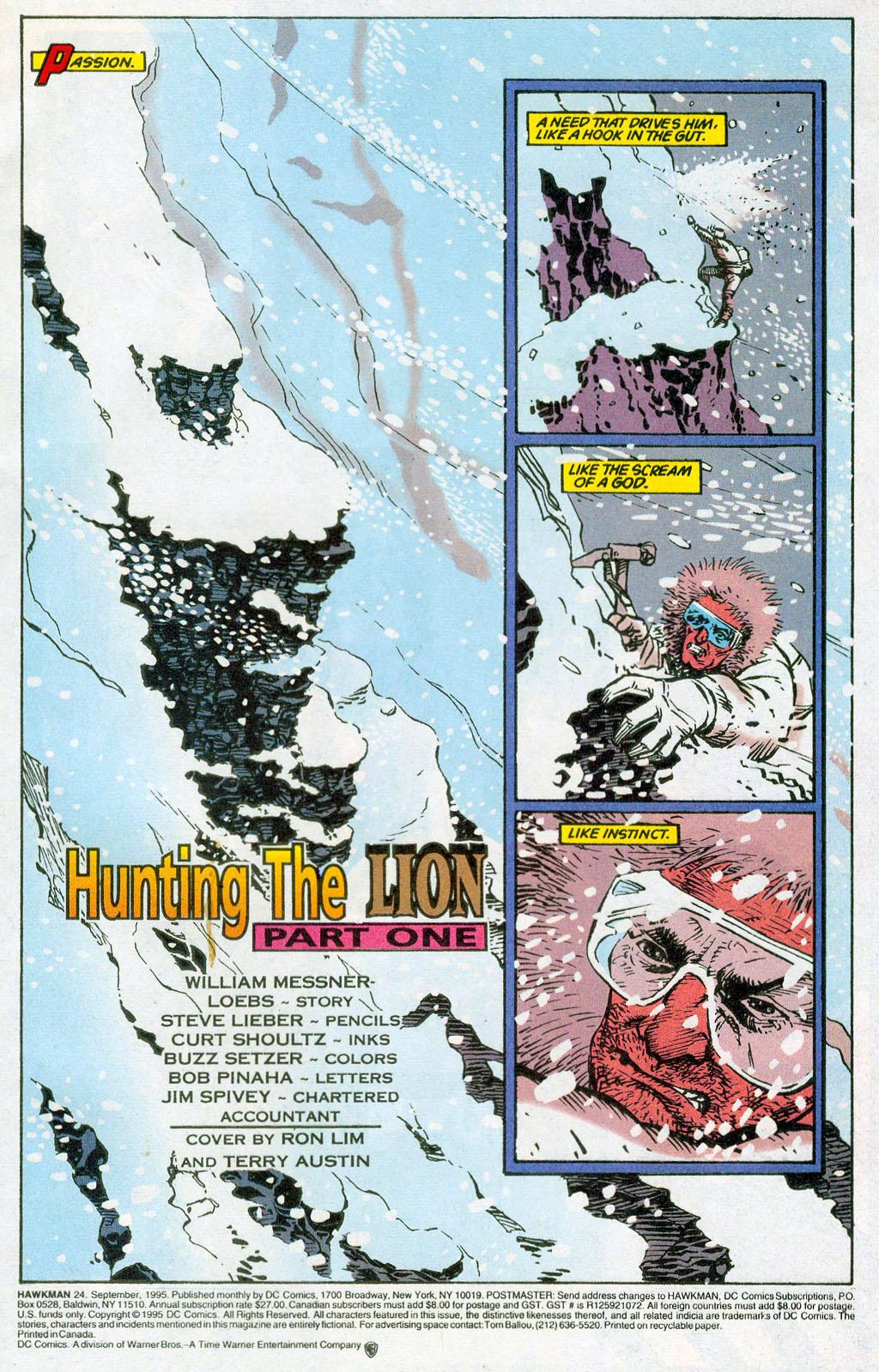 Hawkman (1993) Issue #24 #27 - English 3