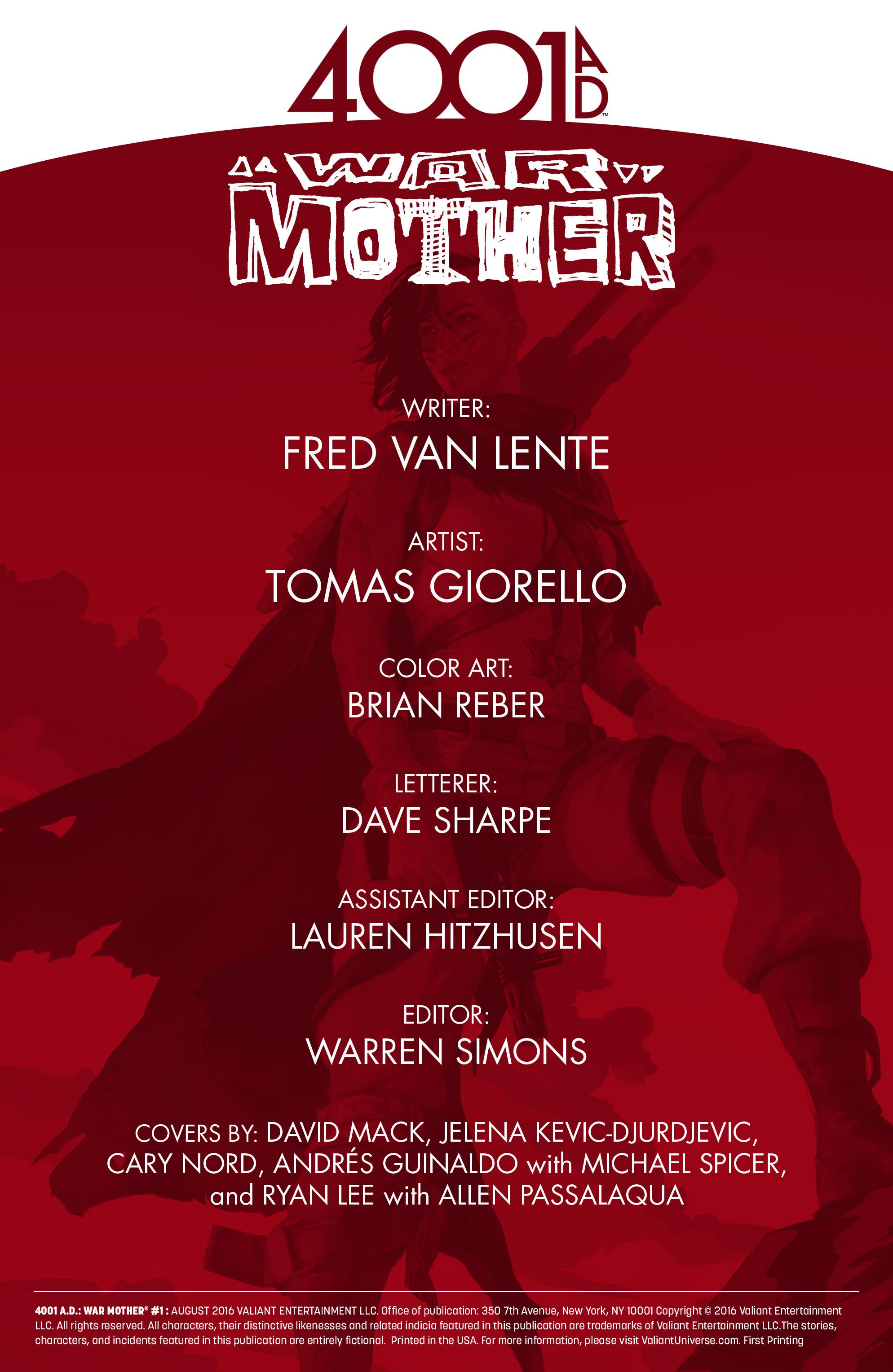 Read online 4001 A.D.: War Mother comic -  Issue #4001 A.D.: War Mother Full - 2