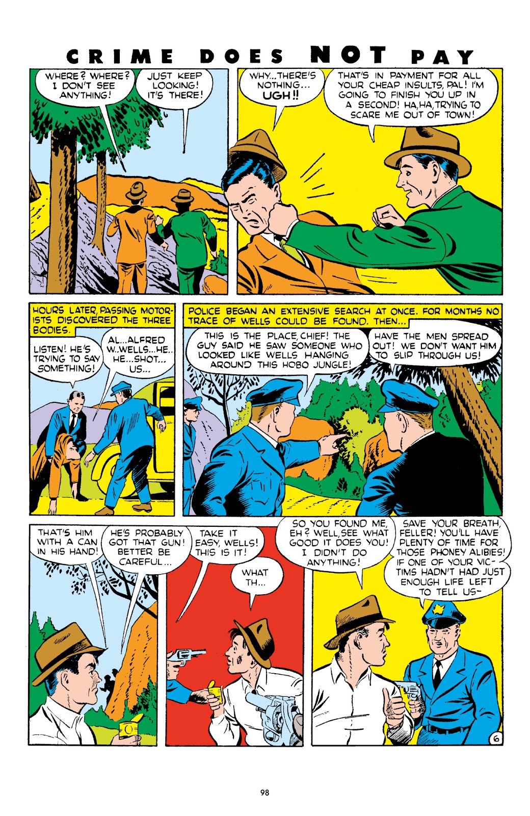 Read online Crime Does Not Pay Archives comic -  Issue # TPB 4 (Part 1) - 98