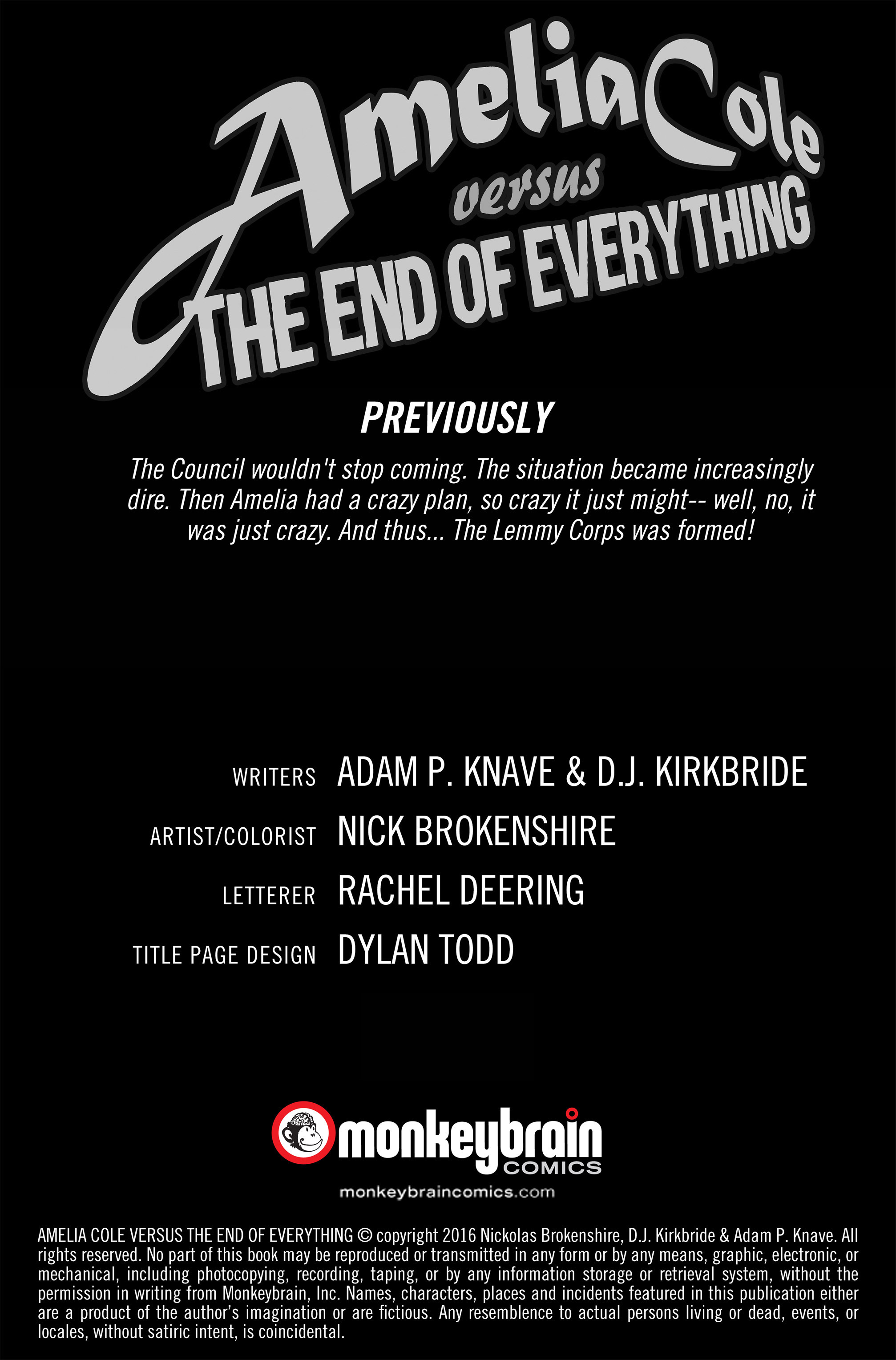 Read online Amelia Cole Versus The End of Everything comic -  Issue #28 - 2