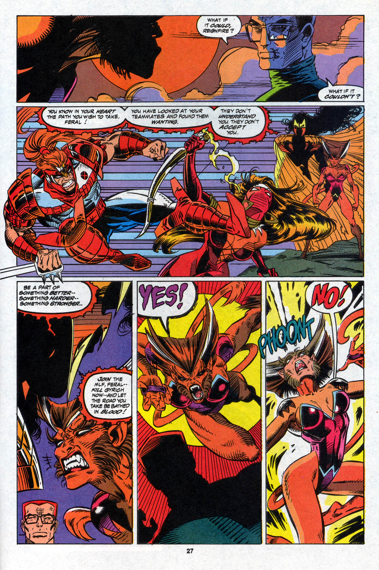 Read online X-Force (1991) comic -  Issue #28 - 27