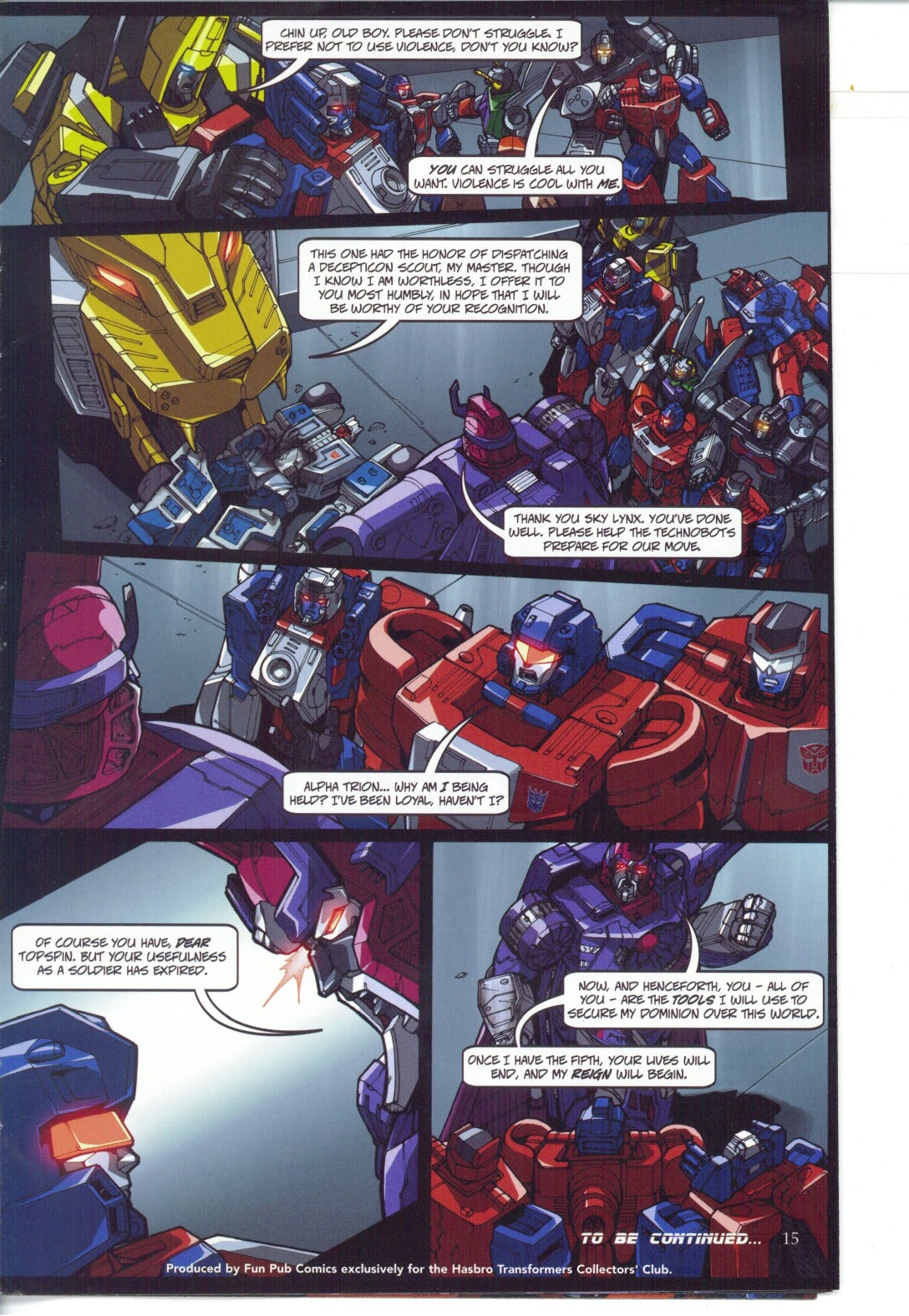 Read online Transformers: Collectors' Club comic -  Issue #25 - 15