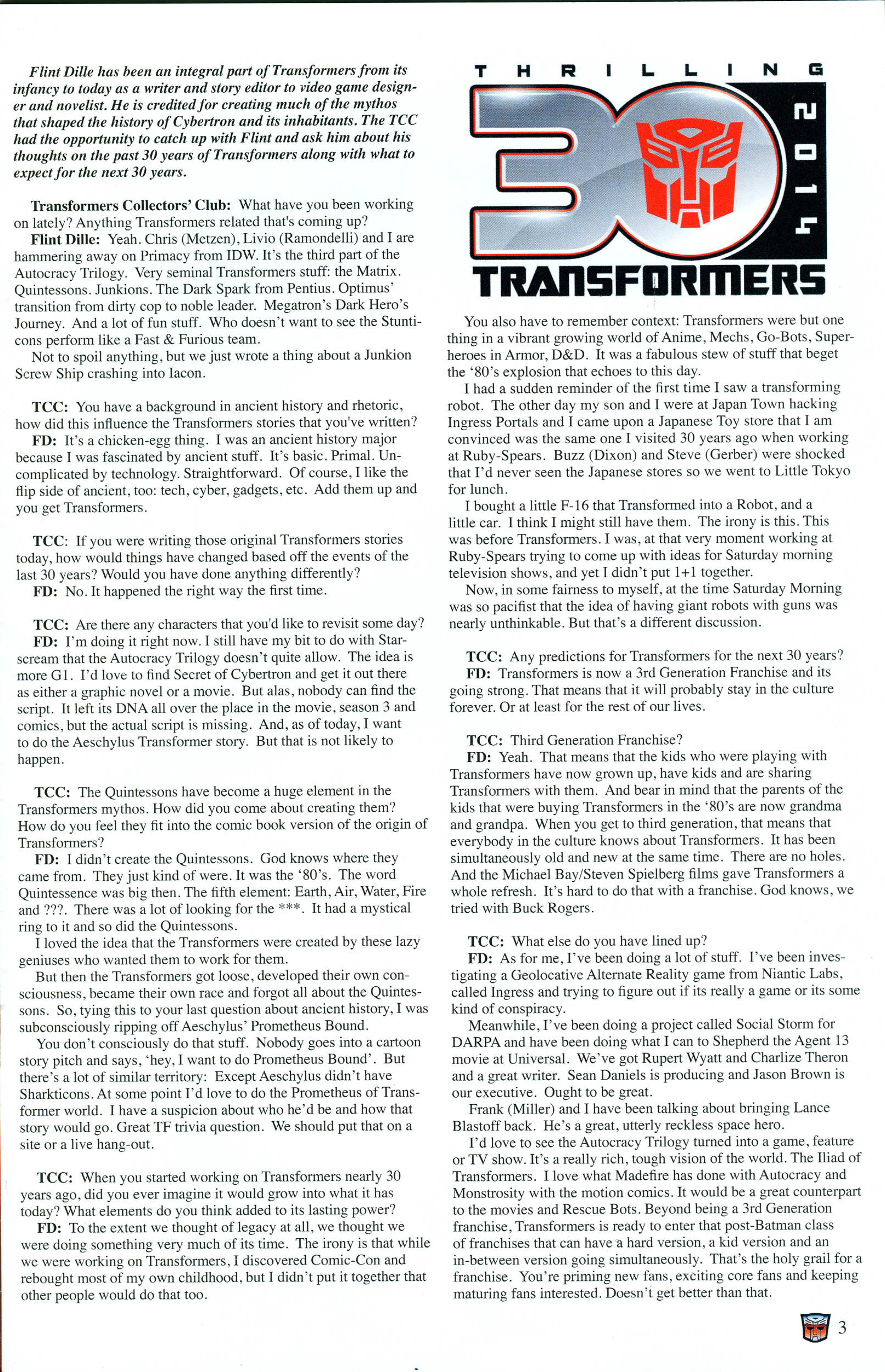 Read online Transformers: Collectors' Club comic -  Issue #55 - 3