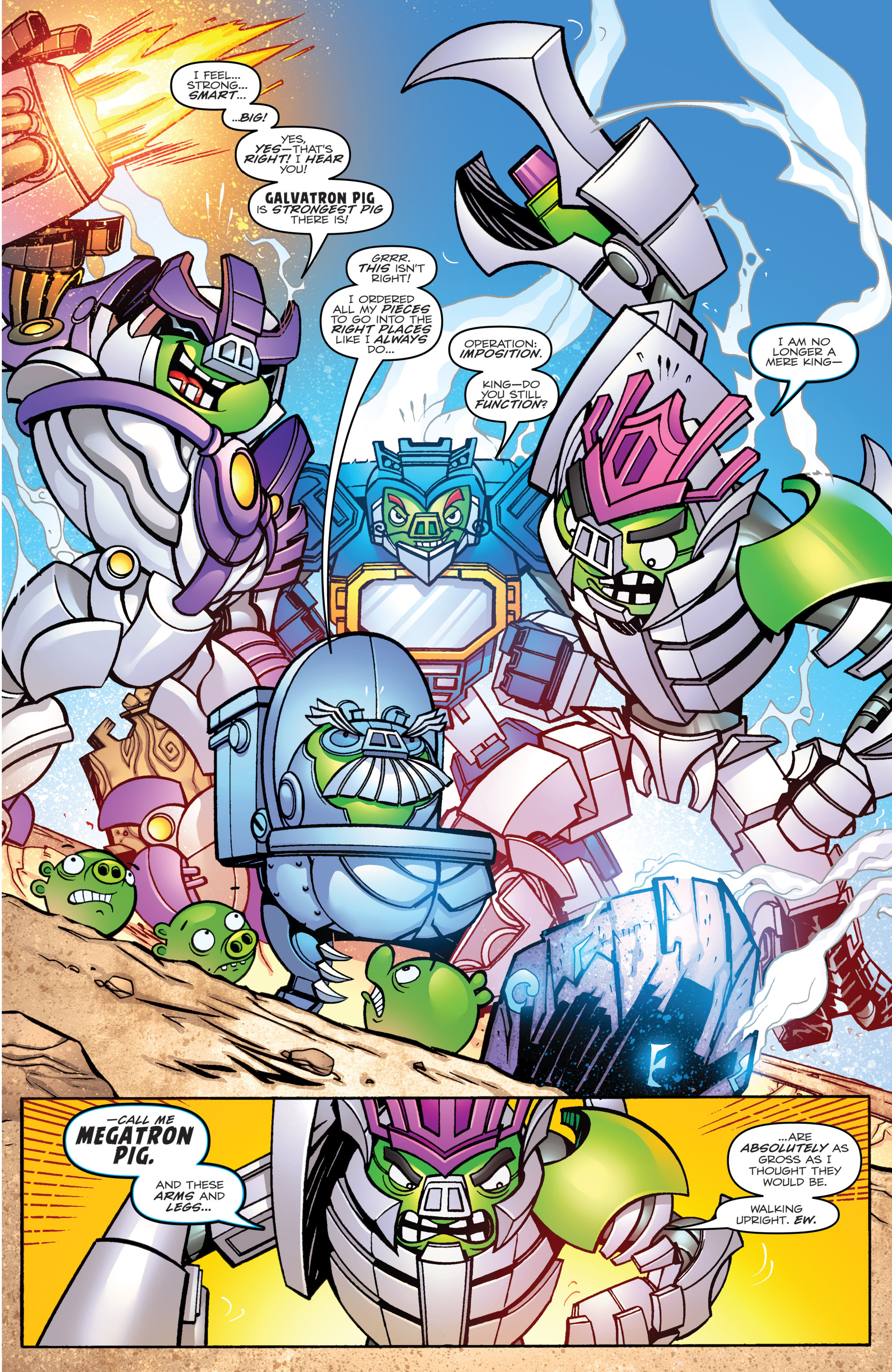 Read online Angry Birds Transformers comic -  Issue #1 - 17