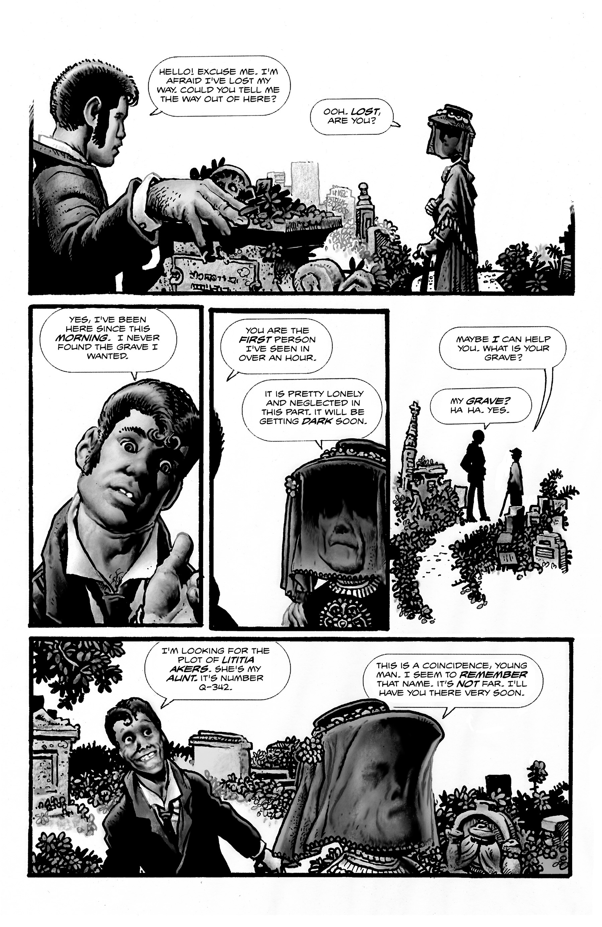 Read online Shadows on the Grave comic -  Issue #2 - 21