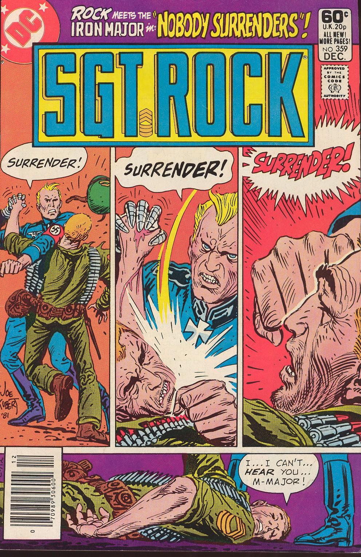 Read online Sgt. Rock comic -  Issue #359 - 1
