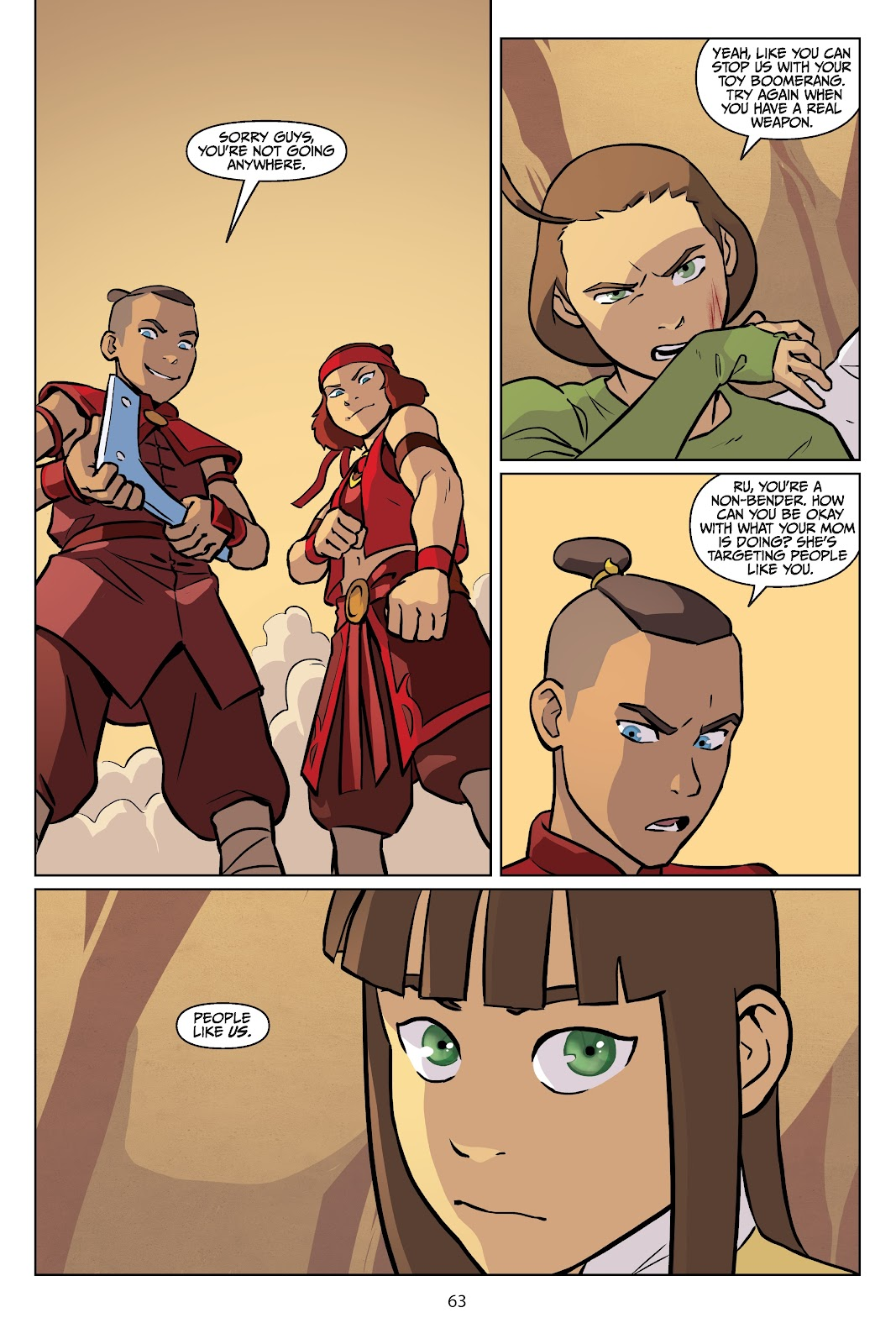 Read online Nickelodeon Avatar: The Last Airbender - Imbalance comic -  Issue # TPB 2 - 64