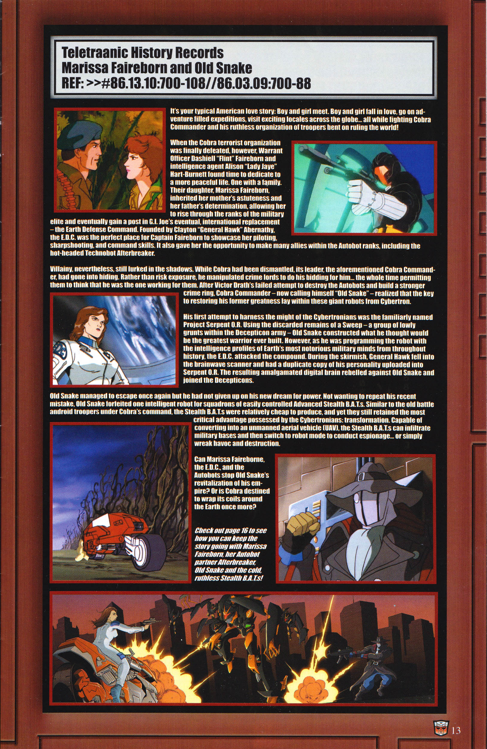 Read online Transformers: Collectors' Club comic -  Issue #65 - 13
