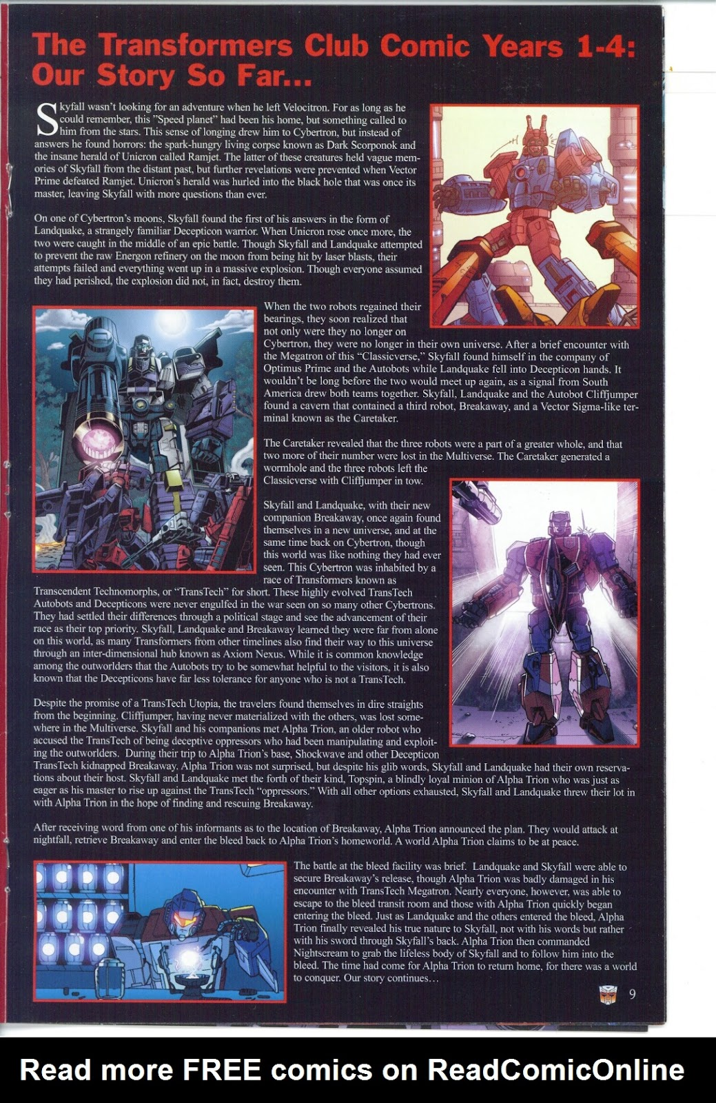Read online Transformers: Collectors' Club comic -  Issue #25 - 9