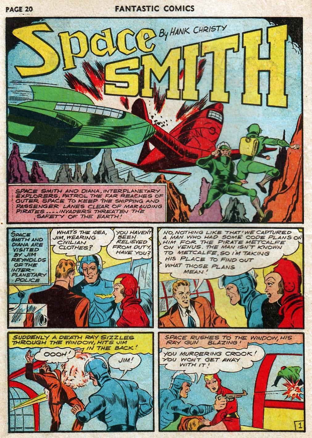 Read online Fantastic Comics comic -  Issue #17 - 22