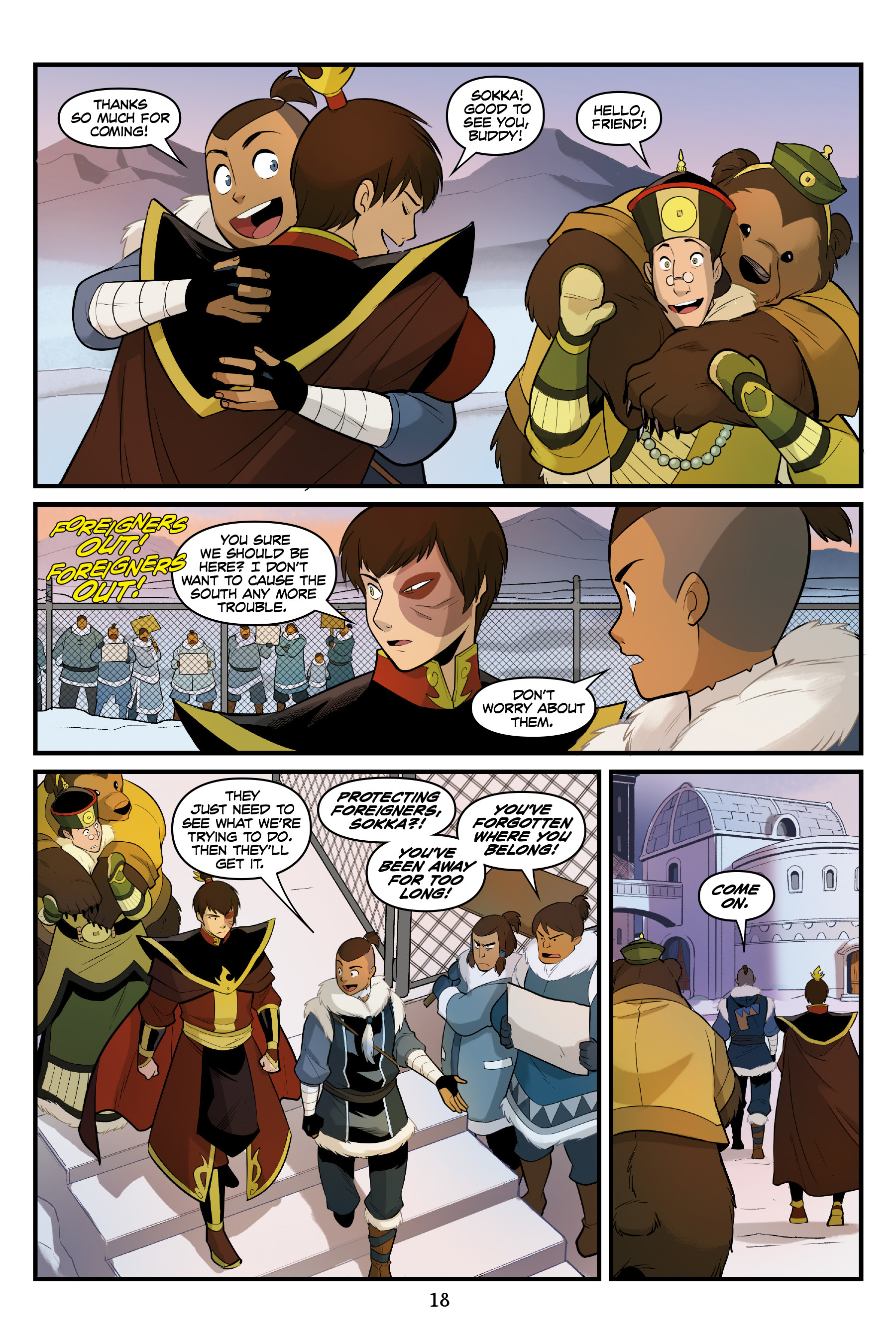 Read online Nickelodeon Avatar: The Last Airbender - North and South comic -  Issue #3 - 19