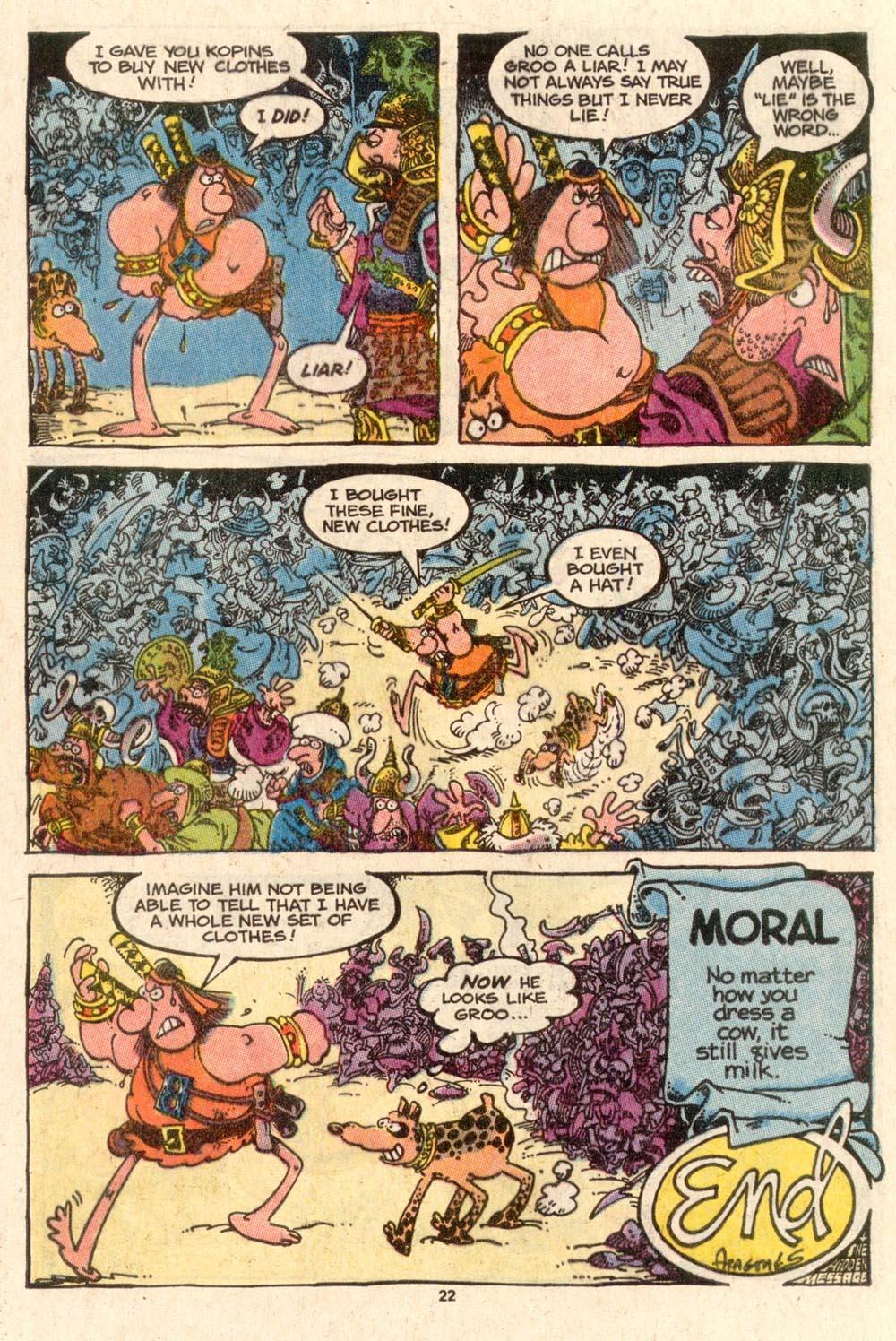 Read online Sergio Aragonés Groo the Wanderer comic -  Issue #46 - 24
