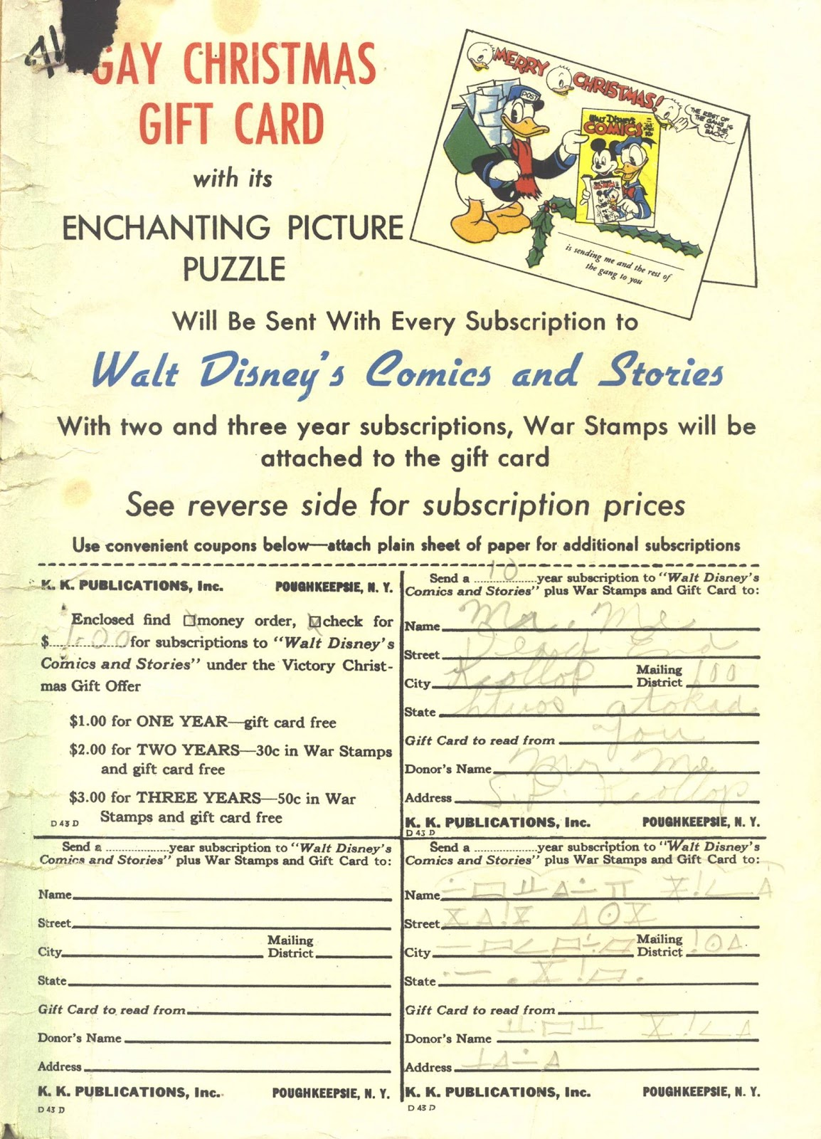Walt Disney's Comics and Stories issue 39 - Page 59