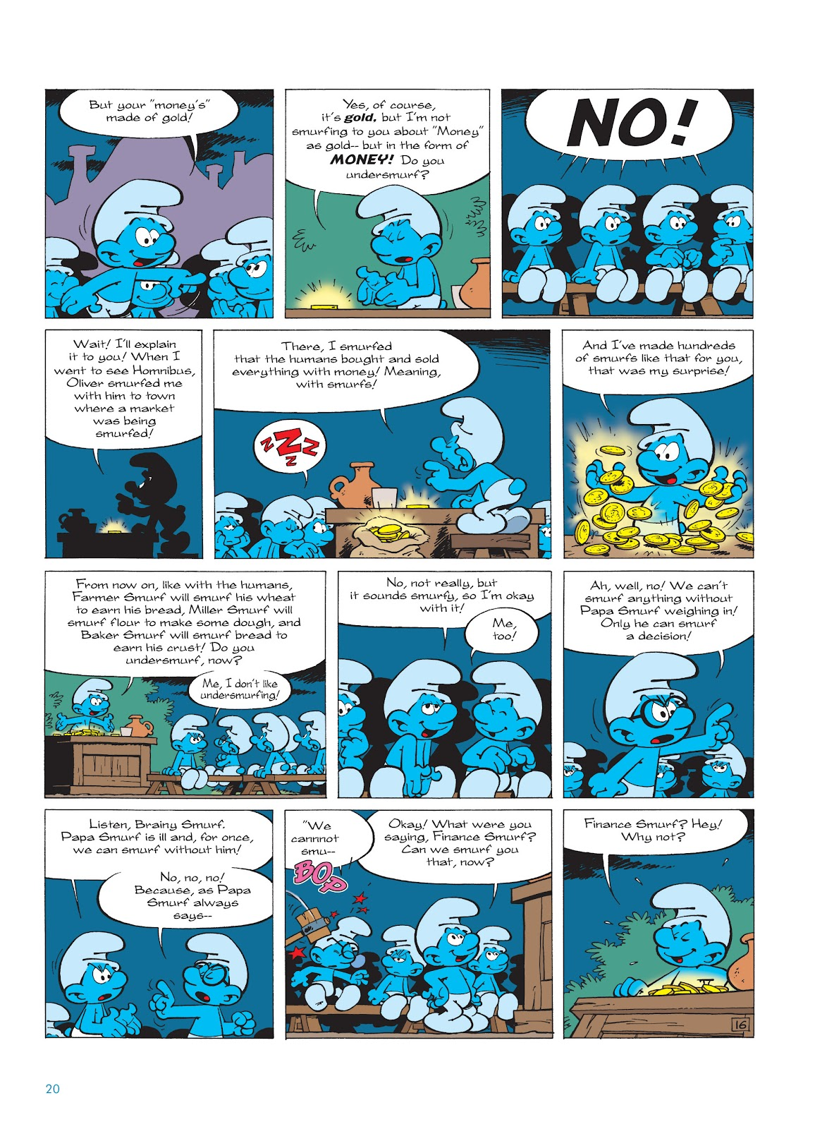Read online The Smurfs comic -  Issue #18 - 20