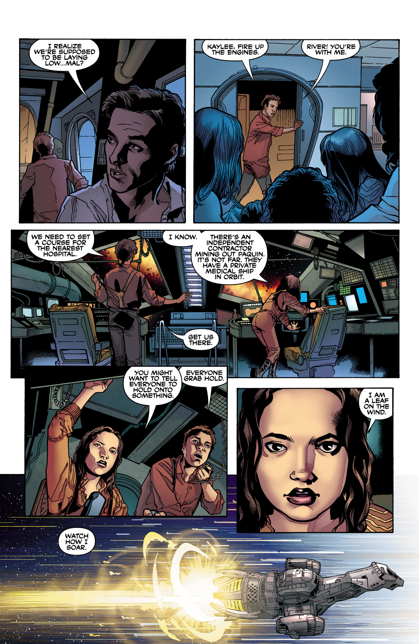 Read online Serenity: Firefly Class 03-K64  Leaves on the Wind comic -  Issue #1 - 20