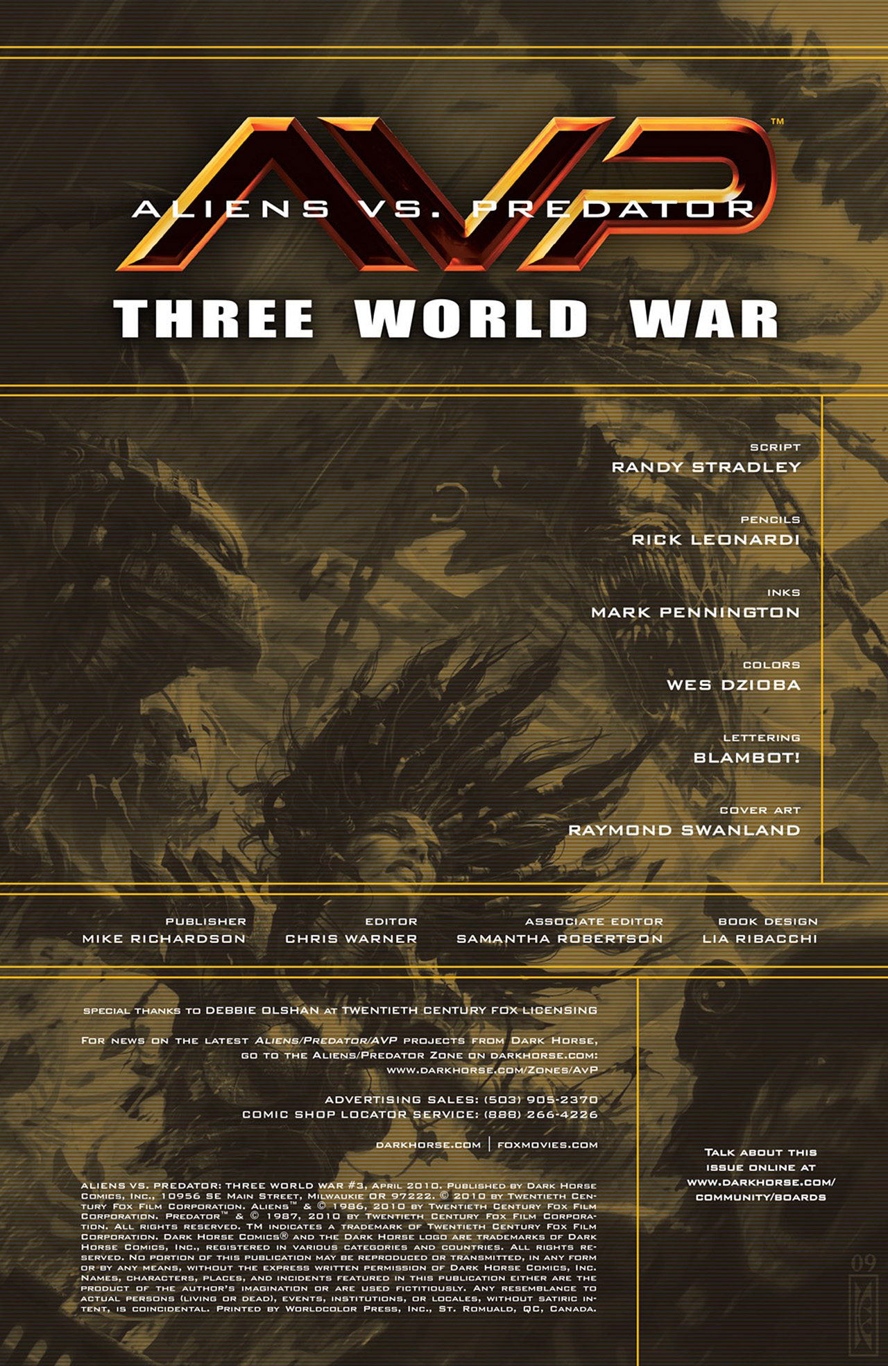 Read online Aliens vs. Predator: Three World War comic -  Issue #3 - 2