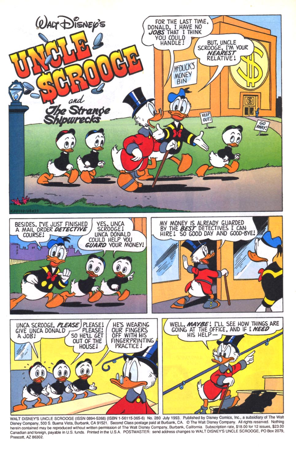 Read online Uncle Scrooge (1953) comic -  Issue #280 - 2
