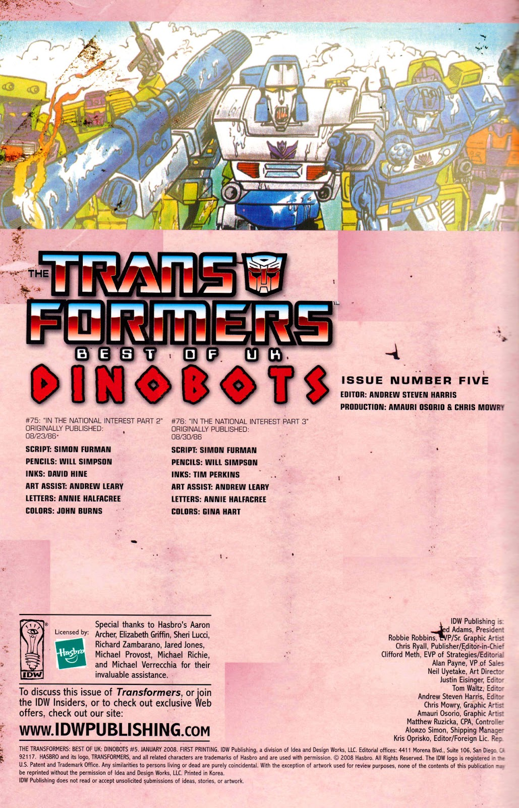 Read online The Transformers: Best of UK: Dinobots comic -  Issue #5 - 2