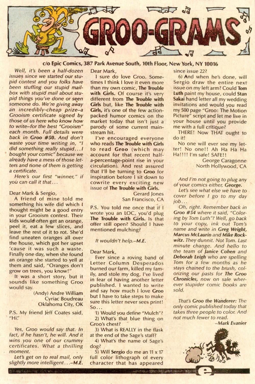 Read online Sergio Aragonés Groo the Wanderer comic -  Issue #56 - 23