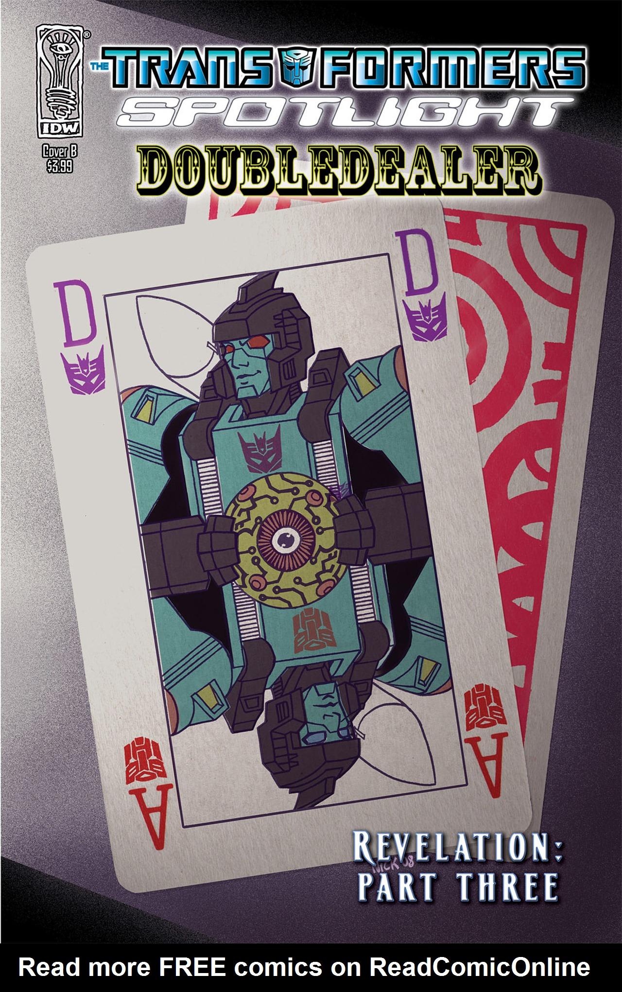 Read online Transformers Spotlight: Doubledealer comic -  Issue # Full - 2