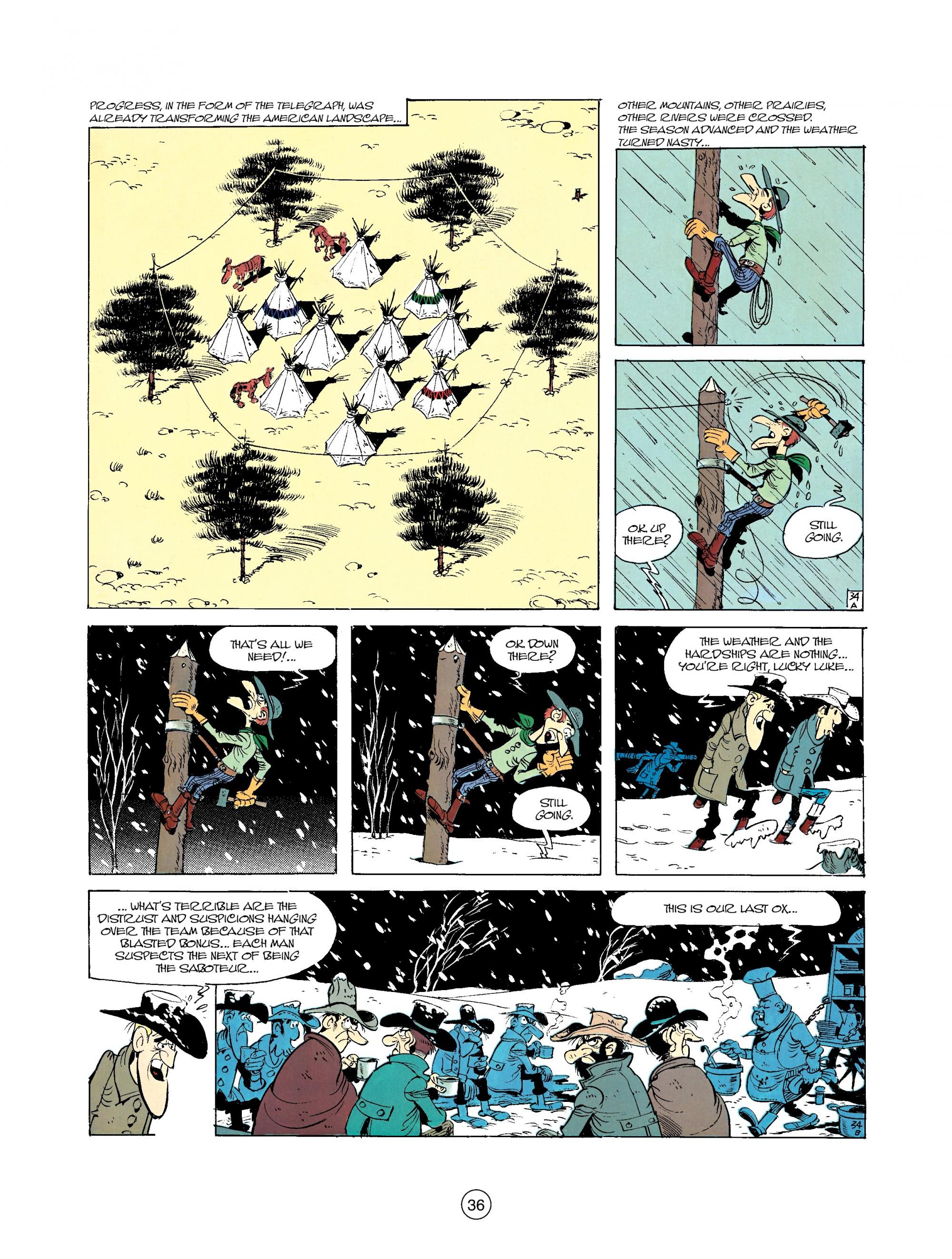 Read online A Lucky Luke Adventure comic -  Issue #35 - 36